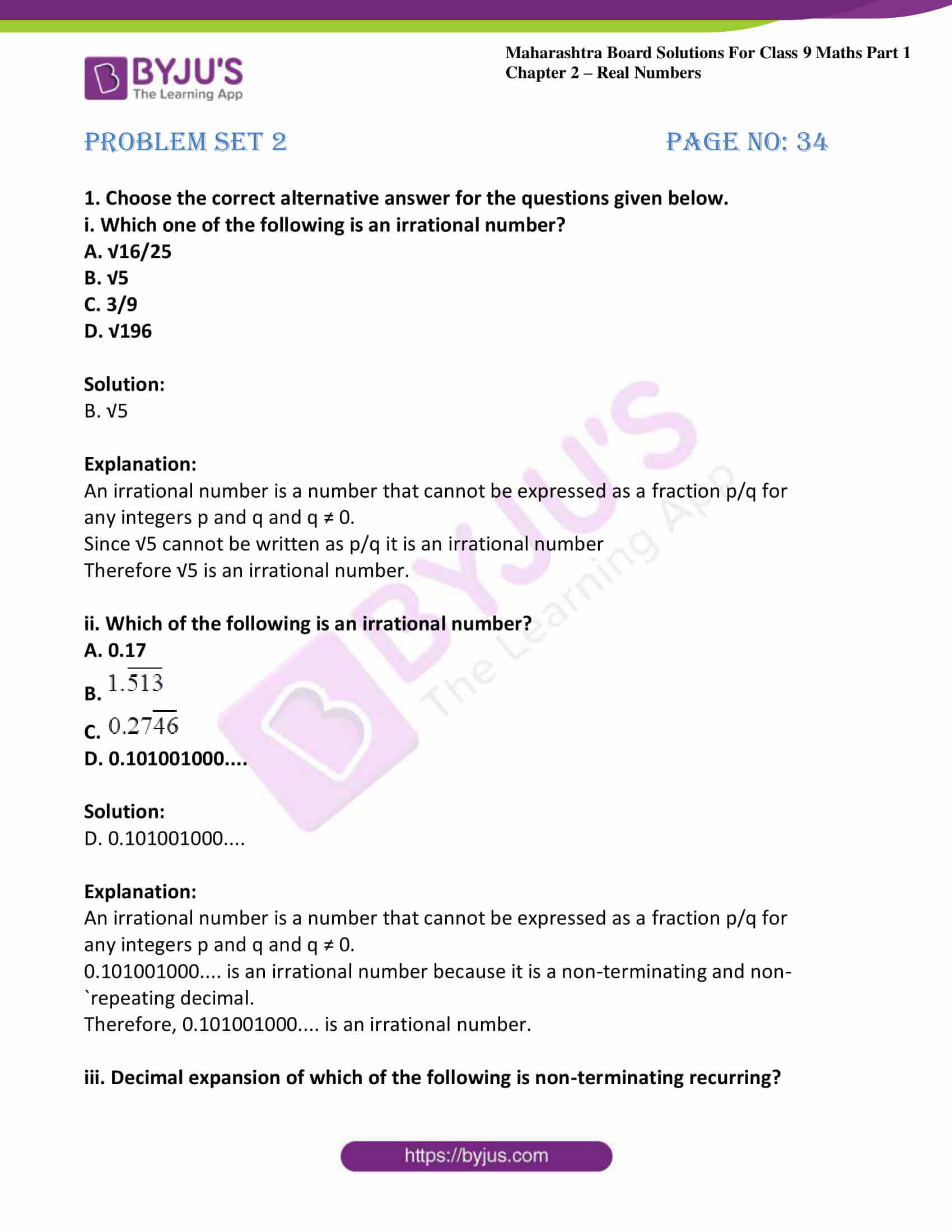 msbshse sol class 9 maths part 1 chapter 2 real numbers 24