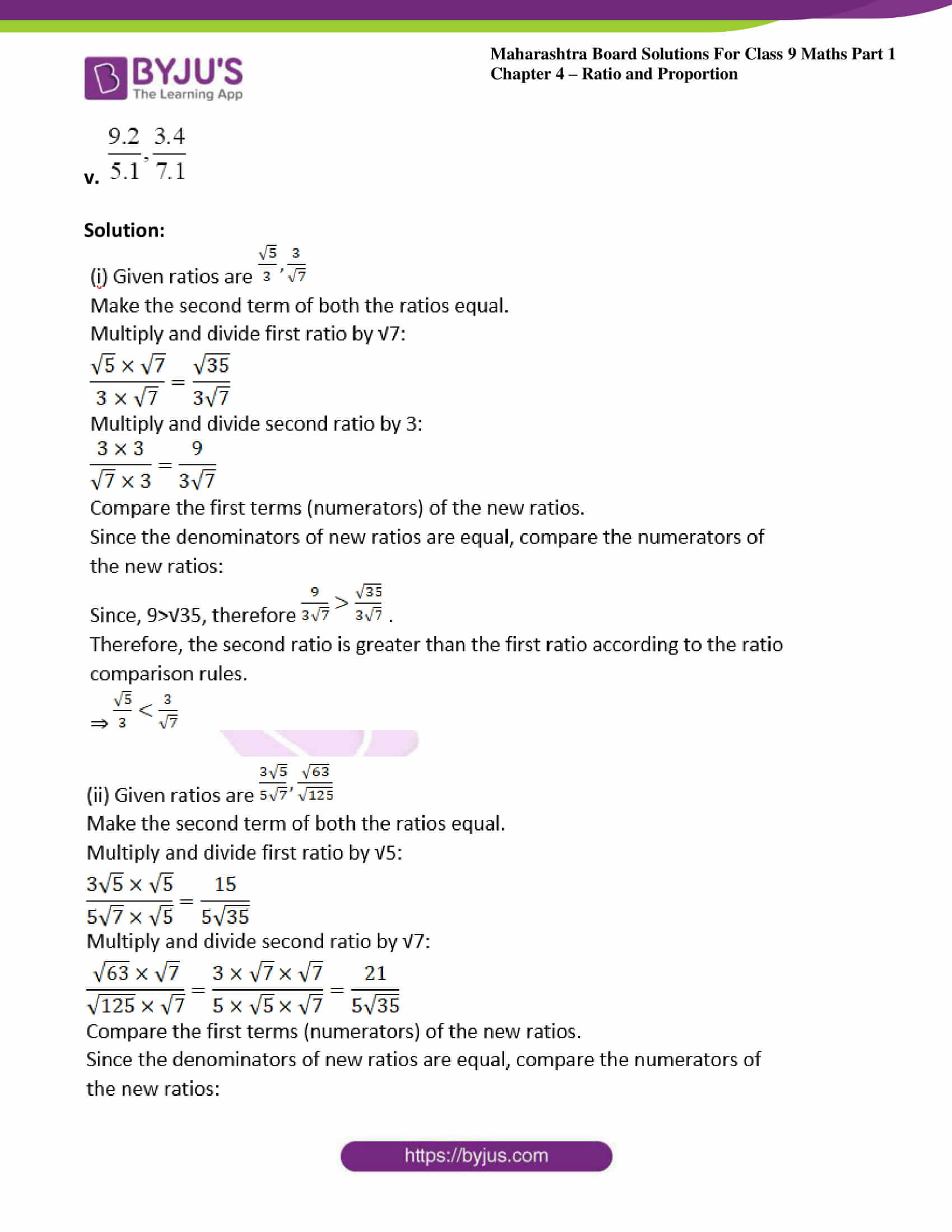 msbshse sol class 9 maths part 1 chapter 4 ratio and proportion 11