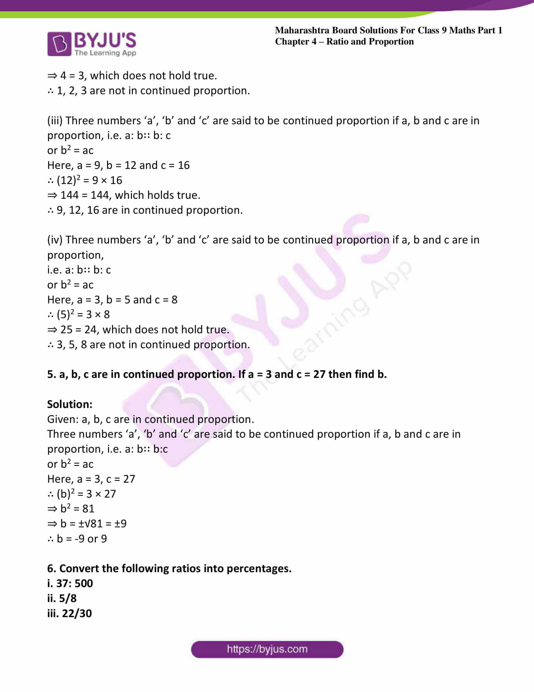 msbshse sol class 9 maths part 1 chapter 4 ratio and proportion 31