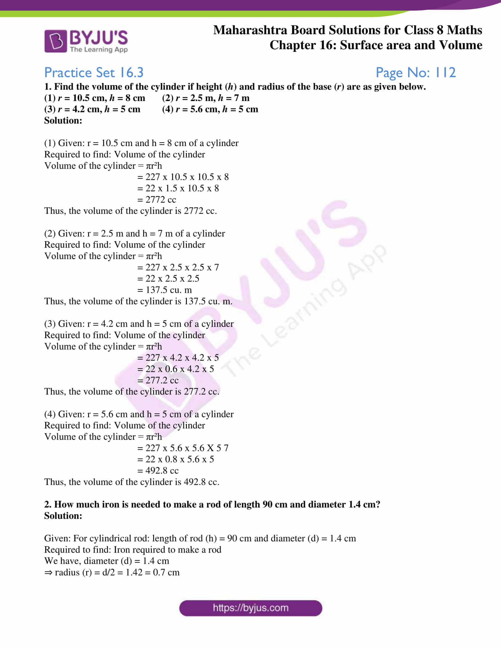 msbshse sol for class 8 maths chapter 16 7