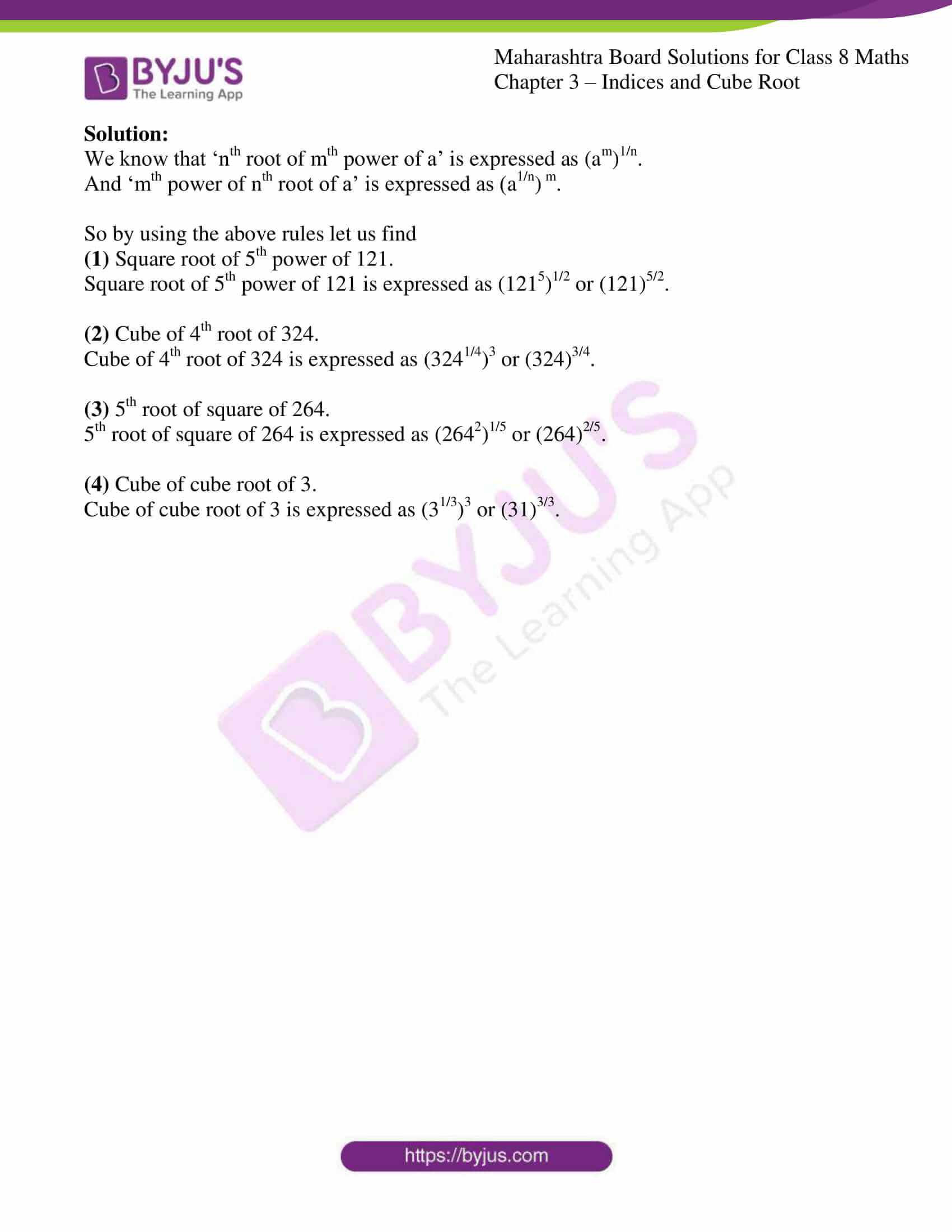 msbshse sol for class 8 maths chapter 3 4