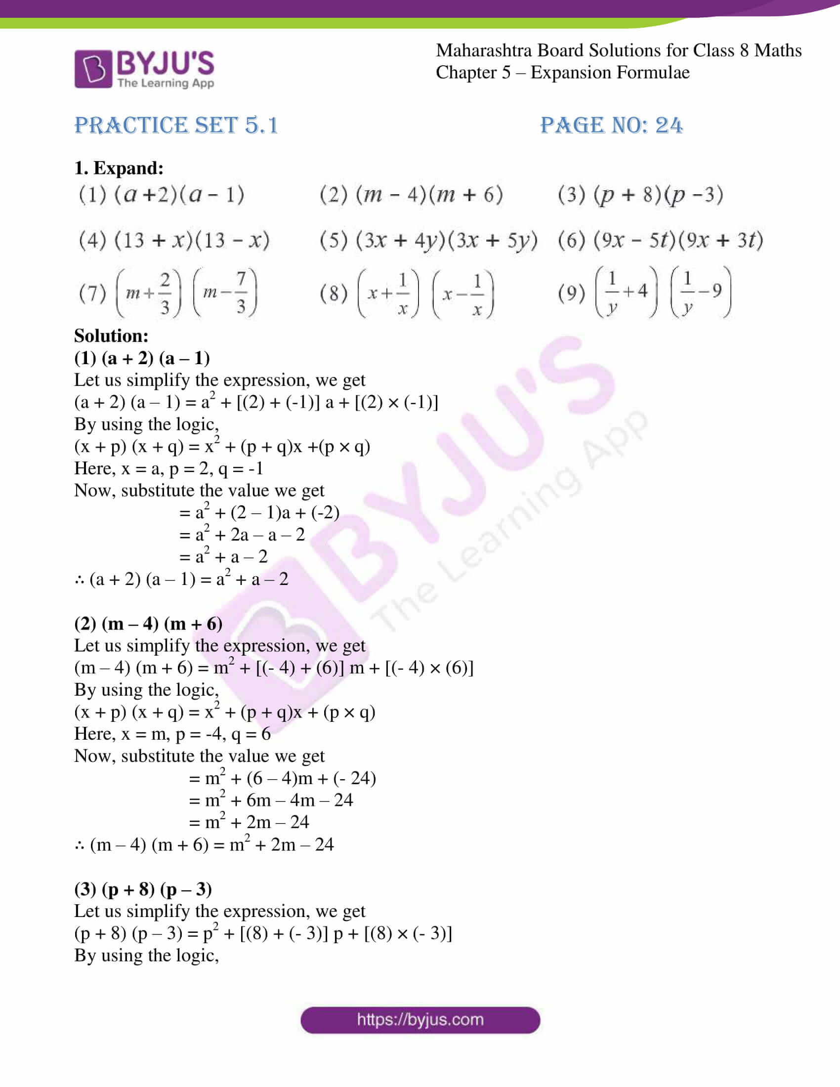 msbshse sol for class 8 maths chapter 5 01