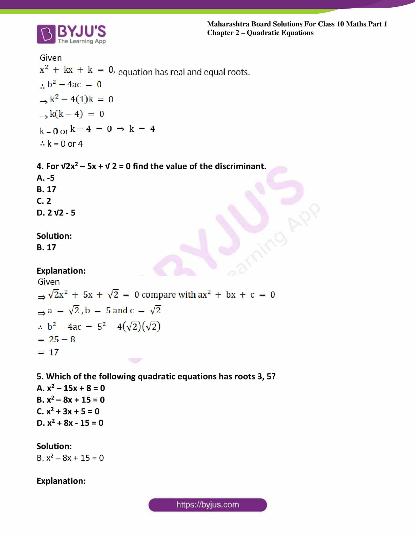 msbshse solutions class 10 maths part 1 chapter 2 37
