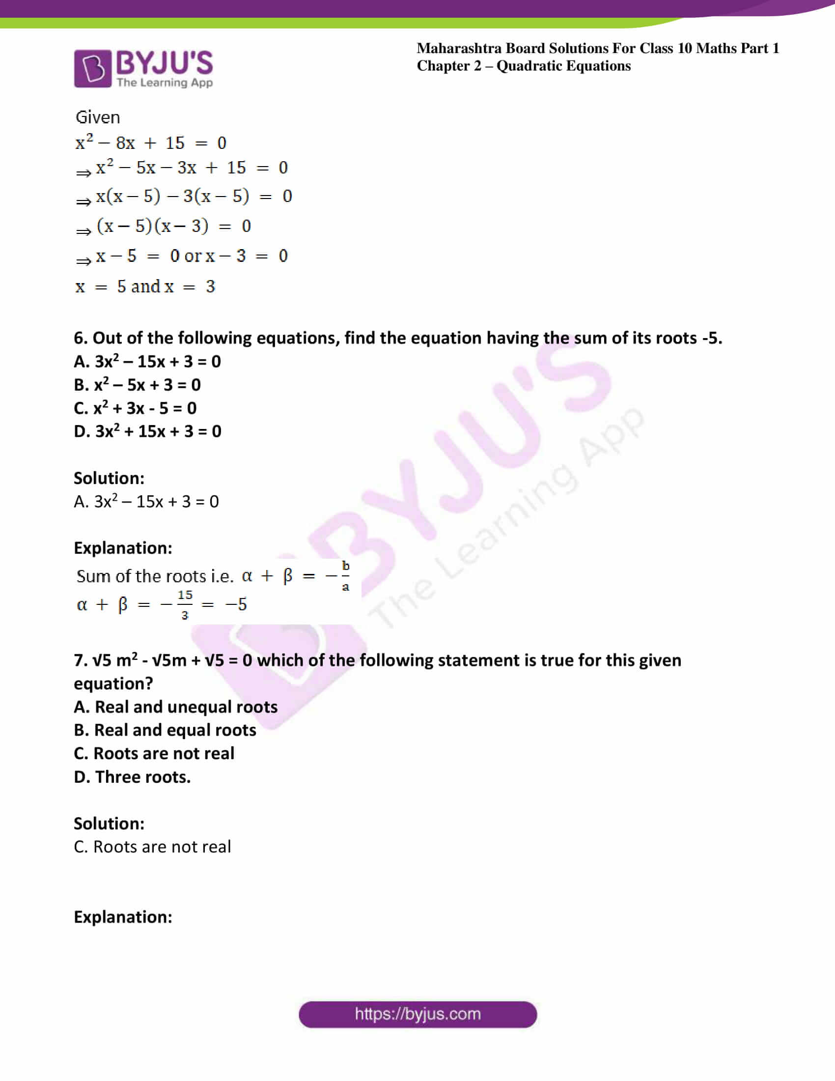 msbshse solutions class 10 maths part 1 chapter 2 38