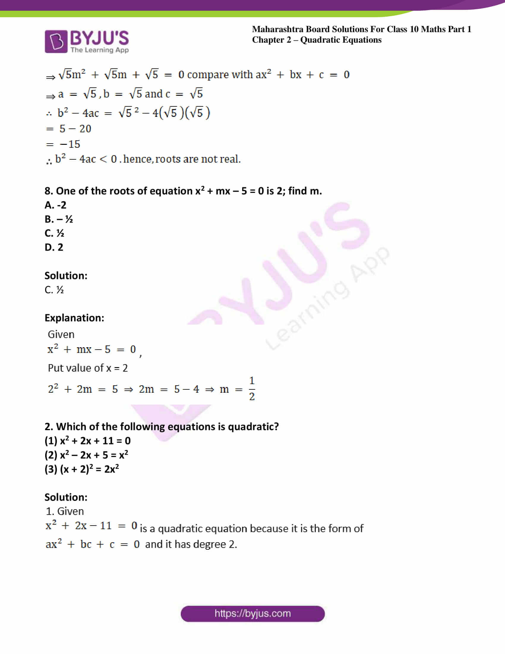 msbshse solutions class 10 maths part 1 chapter 2 39