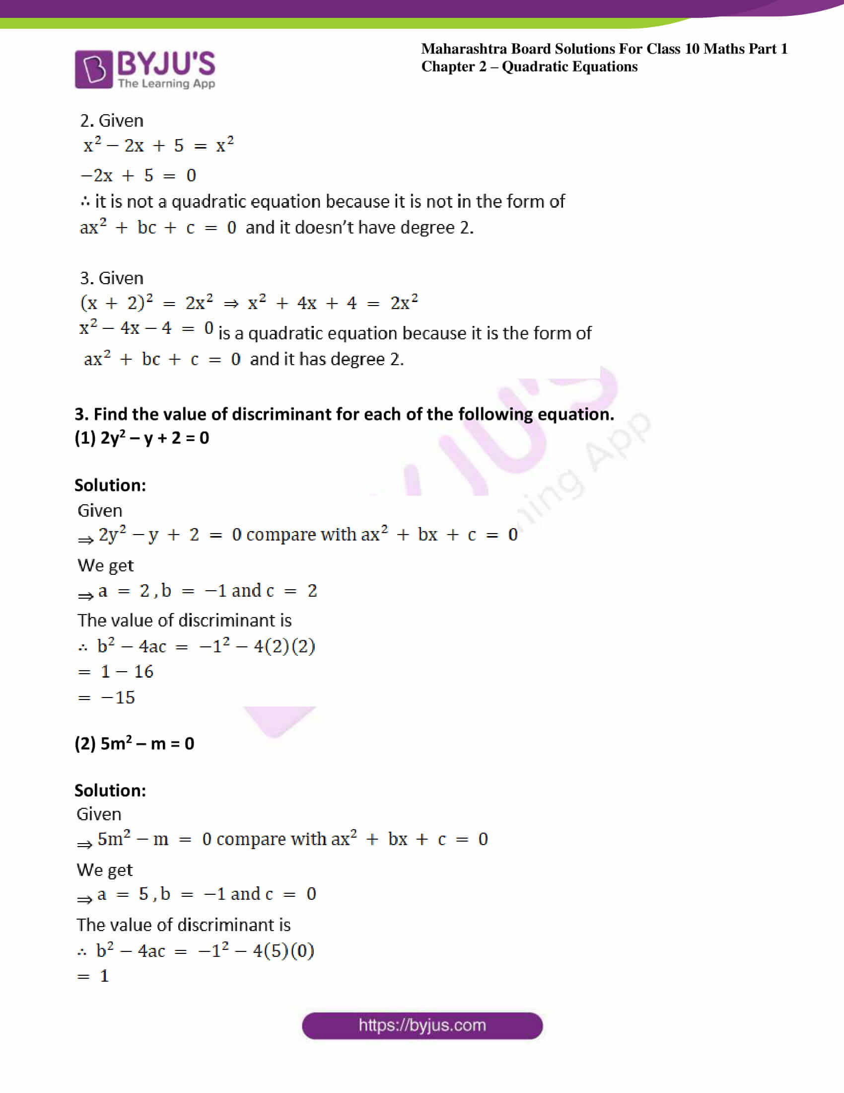 msbshse solutions class 10 maths part 1 chapter 2 40