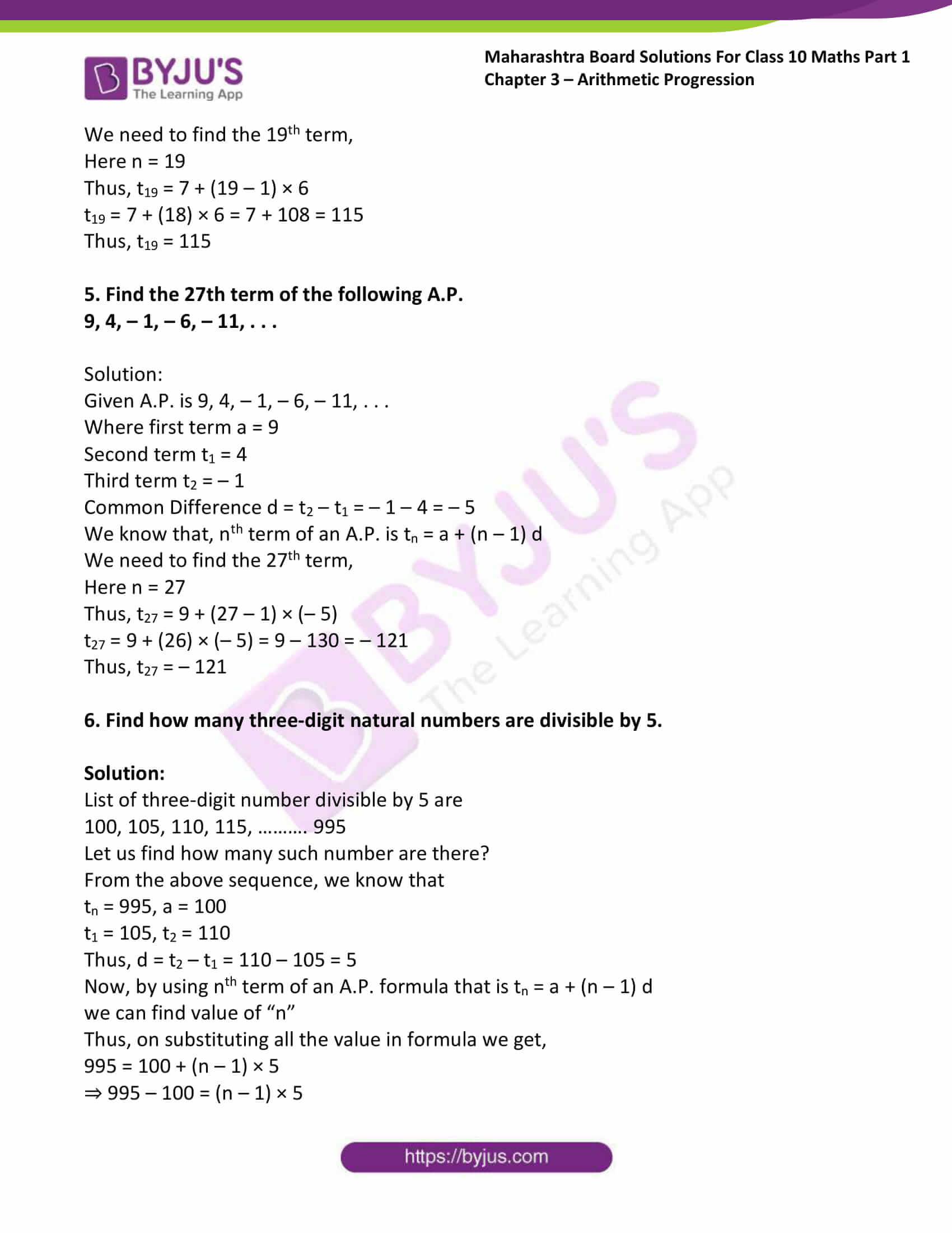 msbshse solutions class 10 maths part 1 chapter 3 11
