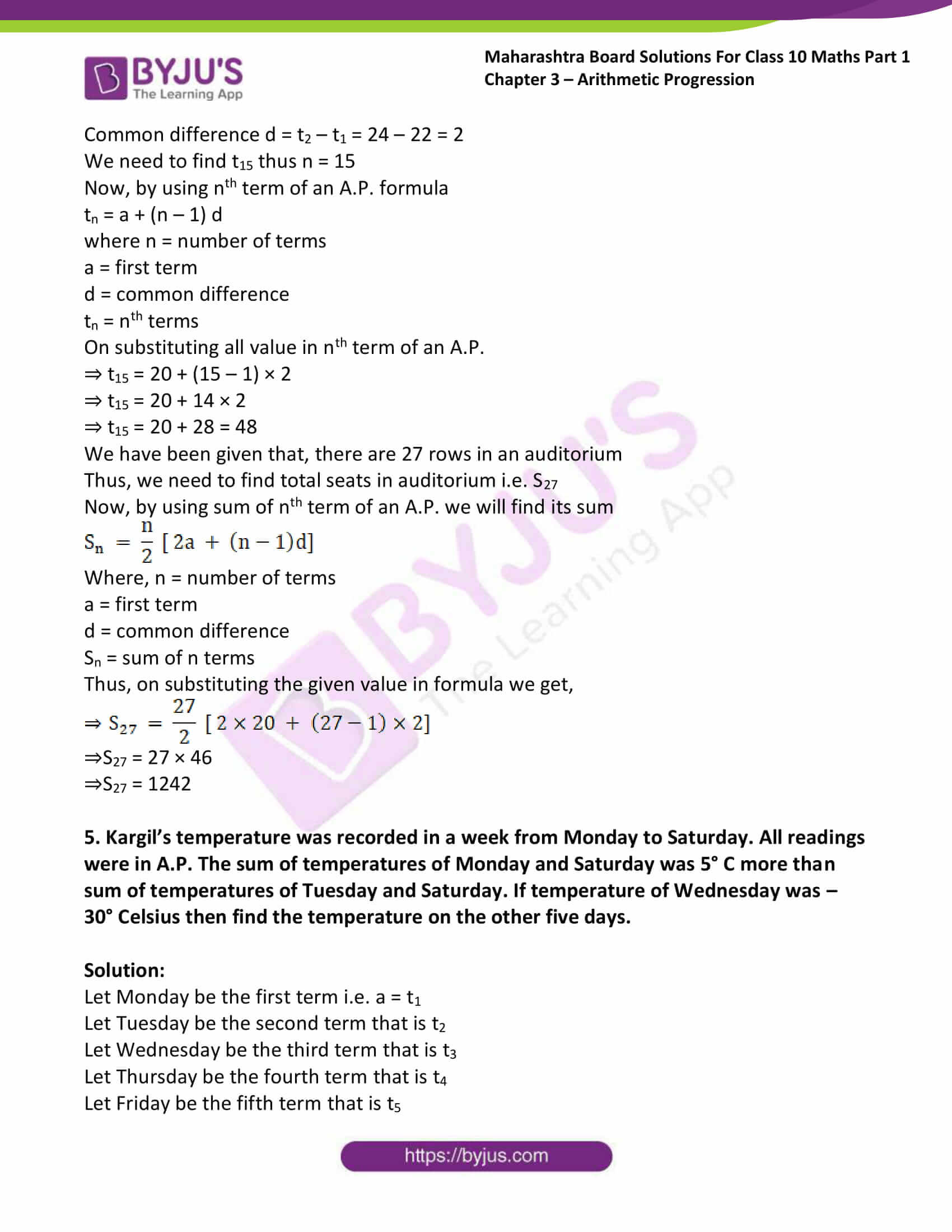 msbshse solutions class 10 maths part 1 chapter 3 28