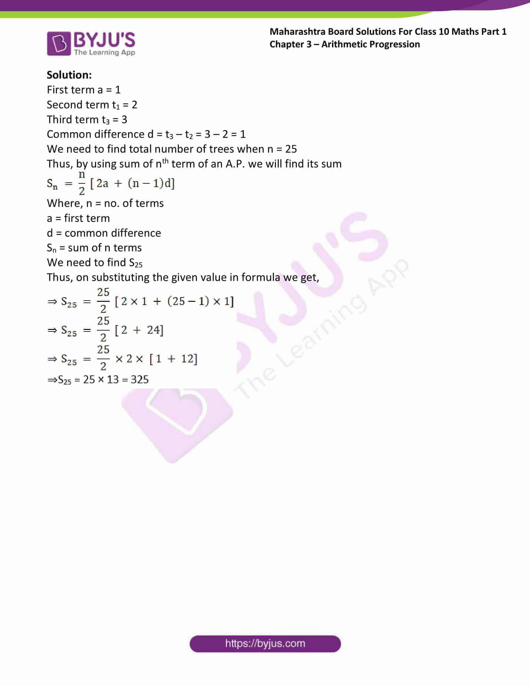 msbshse solutions class 10 maths part 1 chapter 3 30