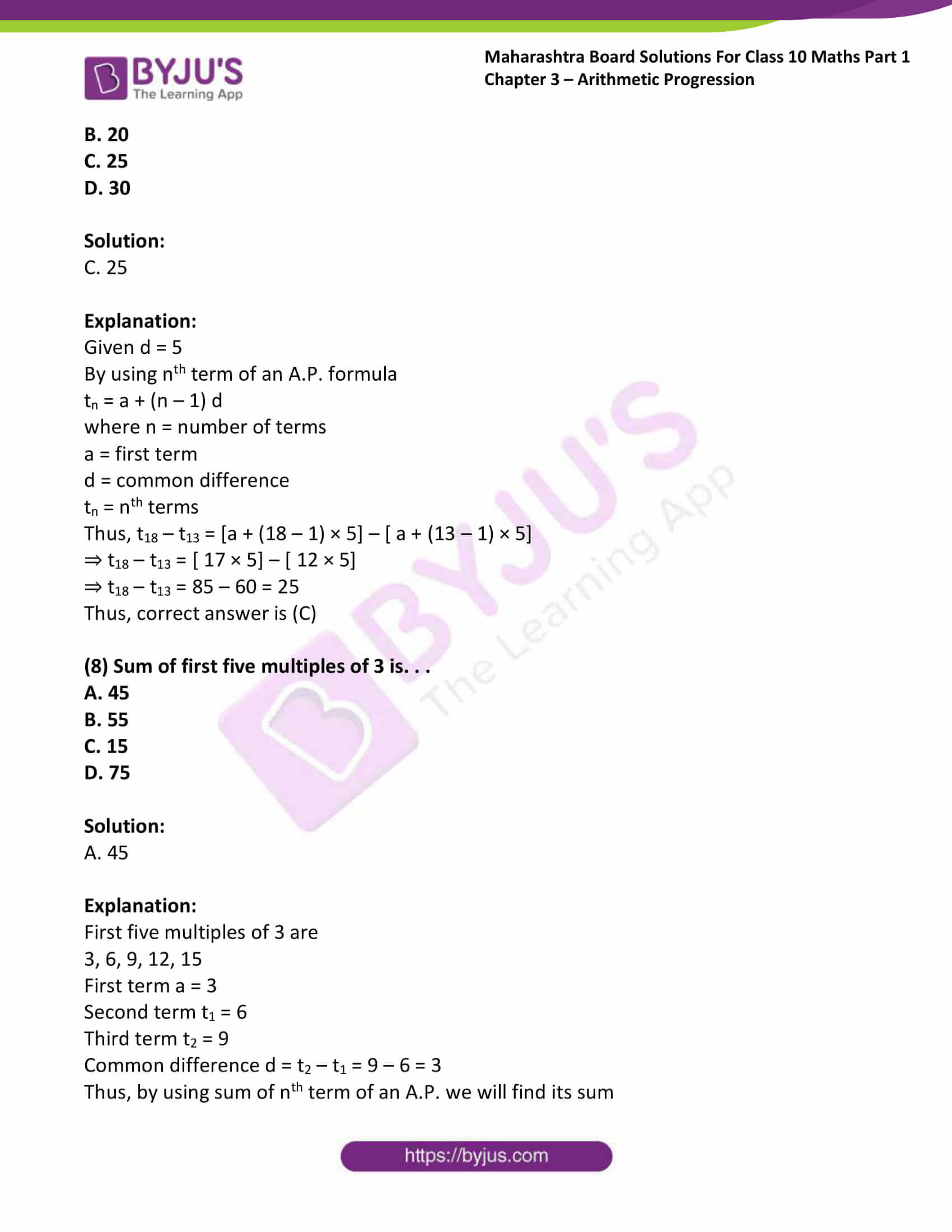 msbshse solutions class 10 maths part 1 chapter 3 35