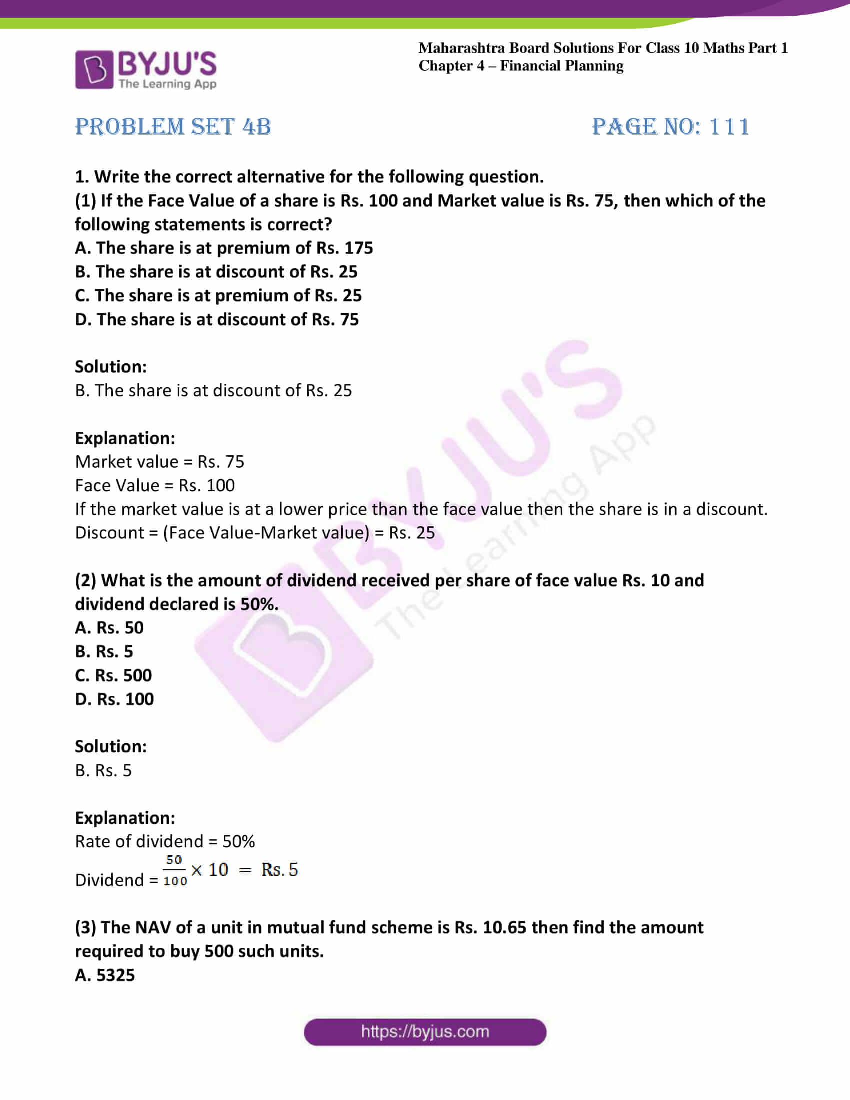 msbshse solutions class 10 maths part 1 chapter 4 14