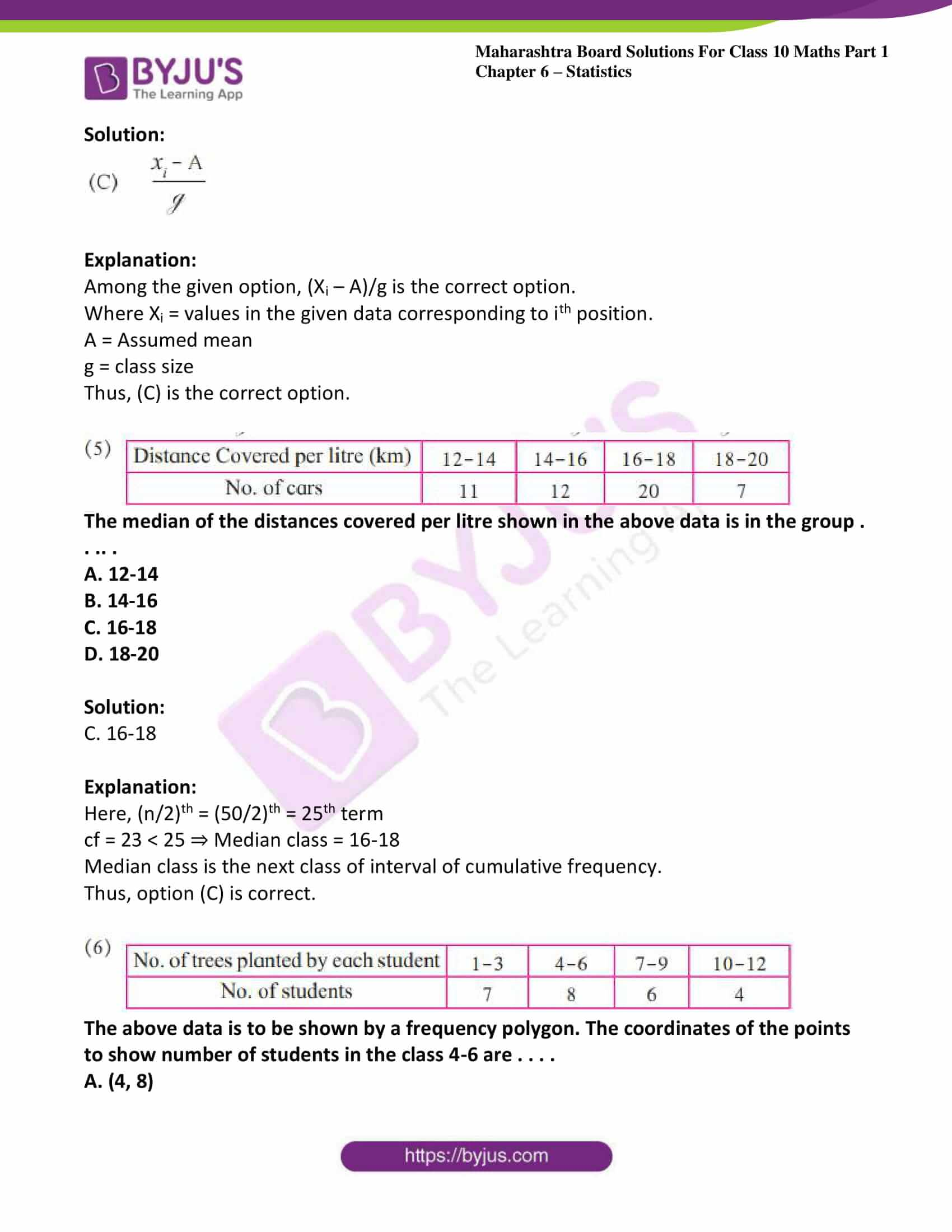 msbshse solutions class 10 maths part 1 chapter 6 18