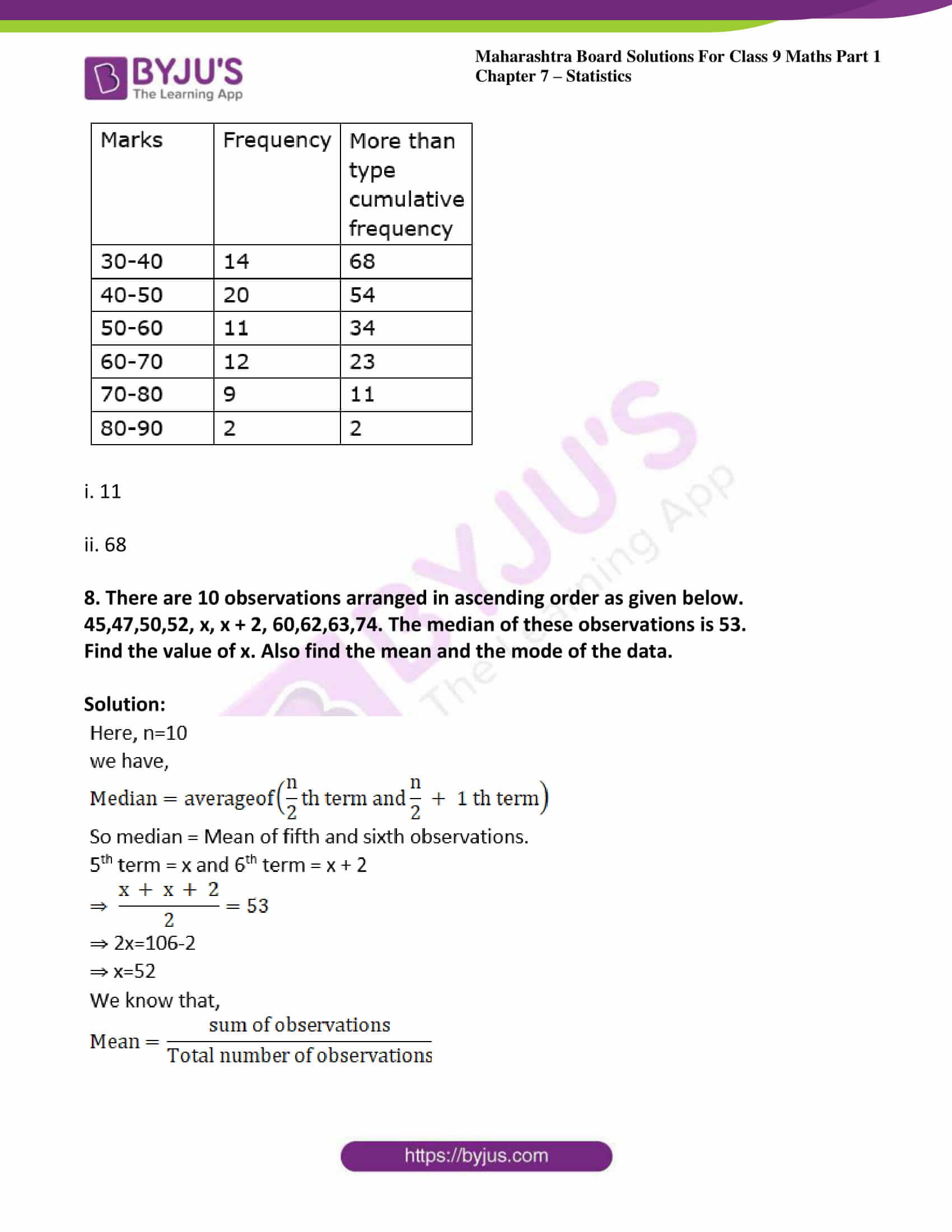 msbshse solutions for class 9 maths part 1 chapter 7 29