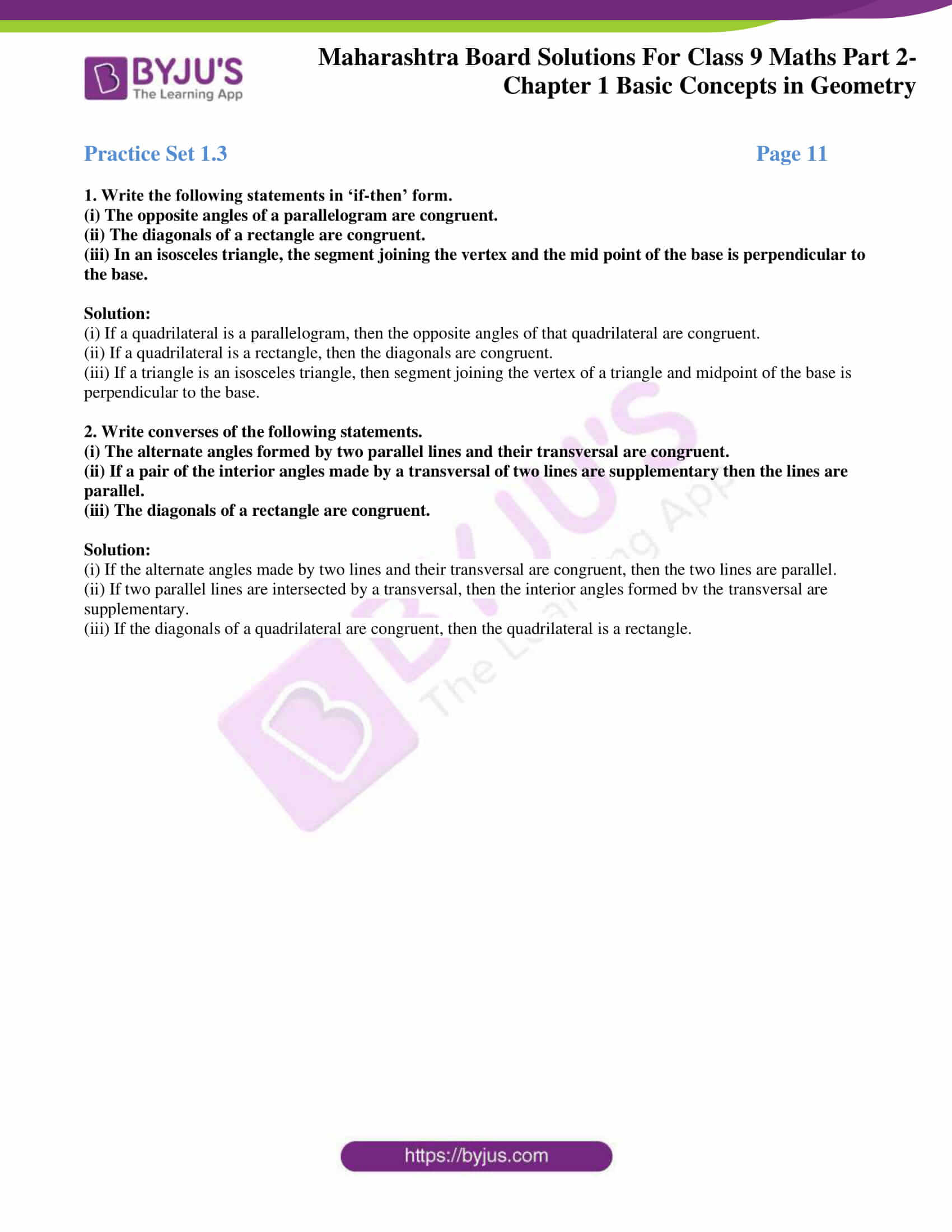 msbshse solutions for class 9 maths part 2 chapter 1 12