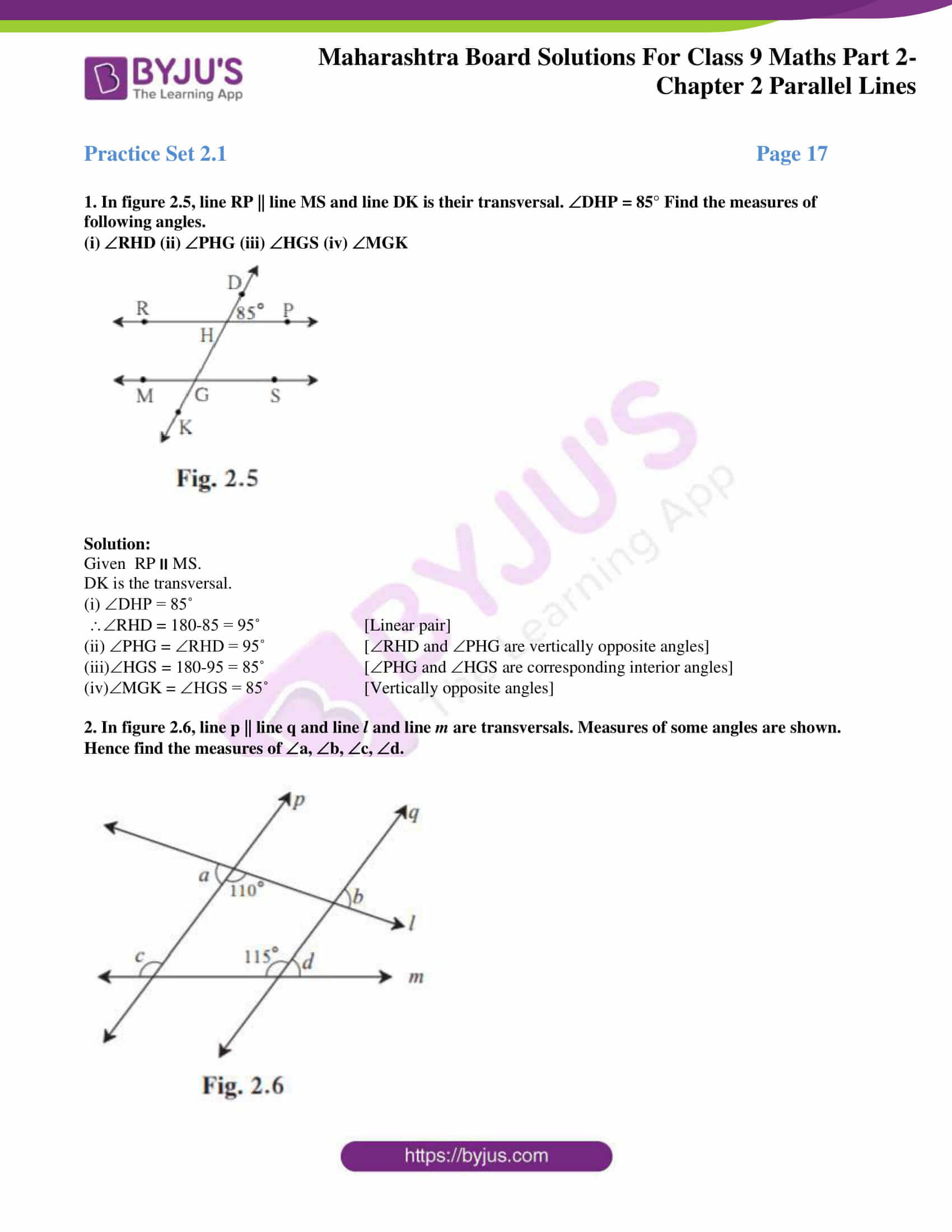 msbshse solutions for class 9 maths part 2 chapter 2 01