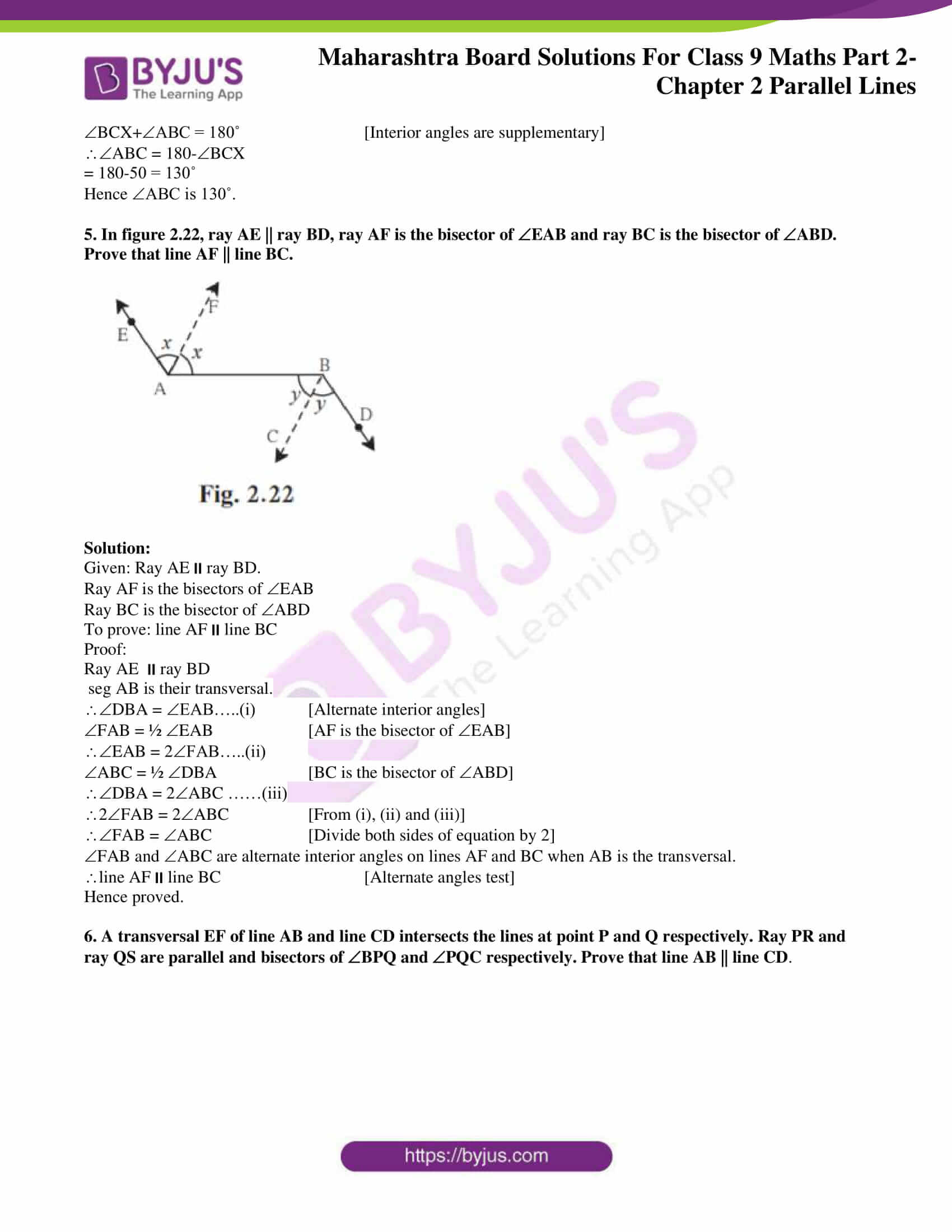 msbshse solutions for class 9 maths part 2 chapter 2 10