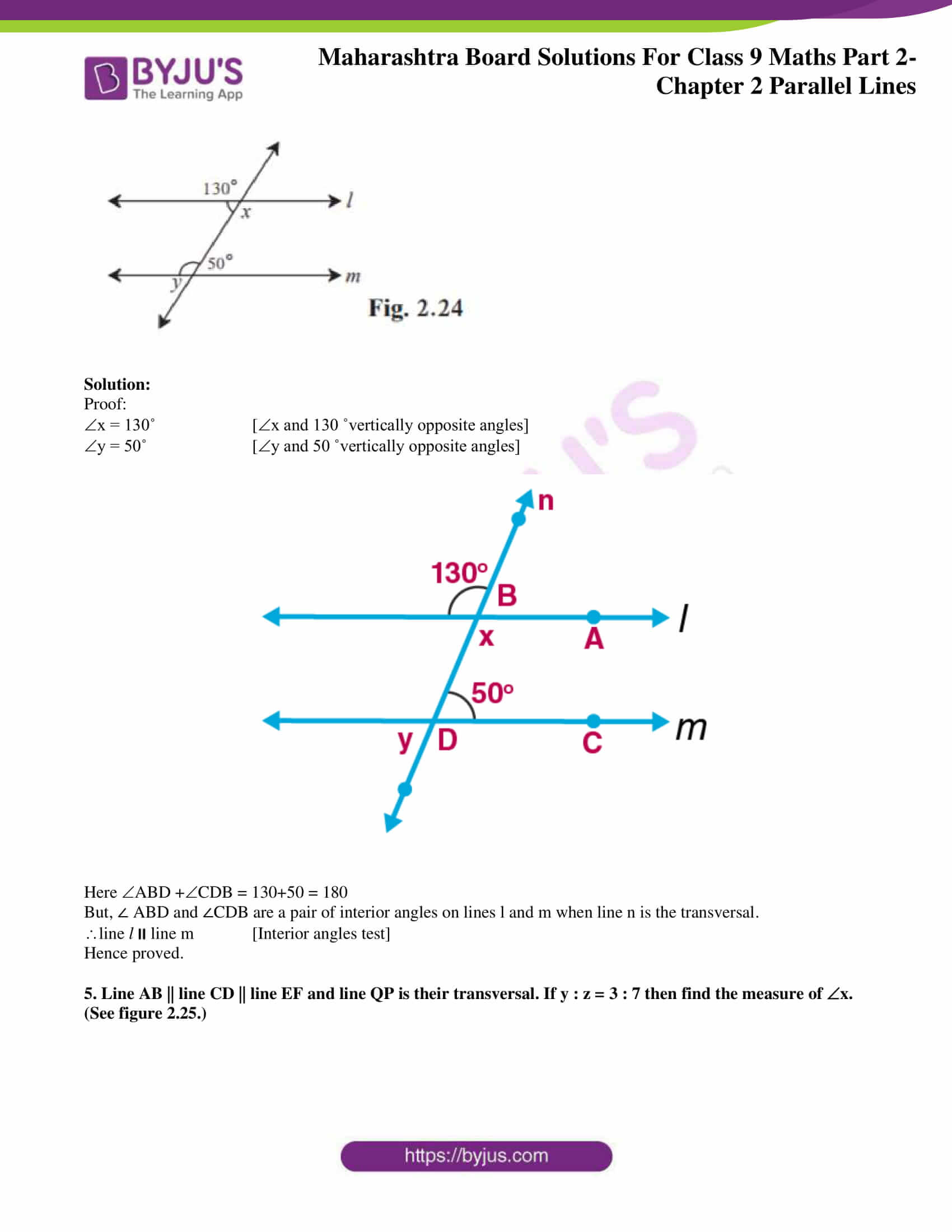 msbshse solutions for class 9 maths part 2 chapter 2 15