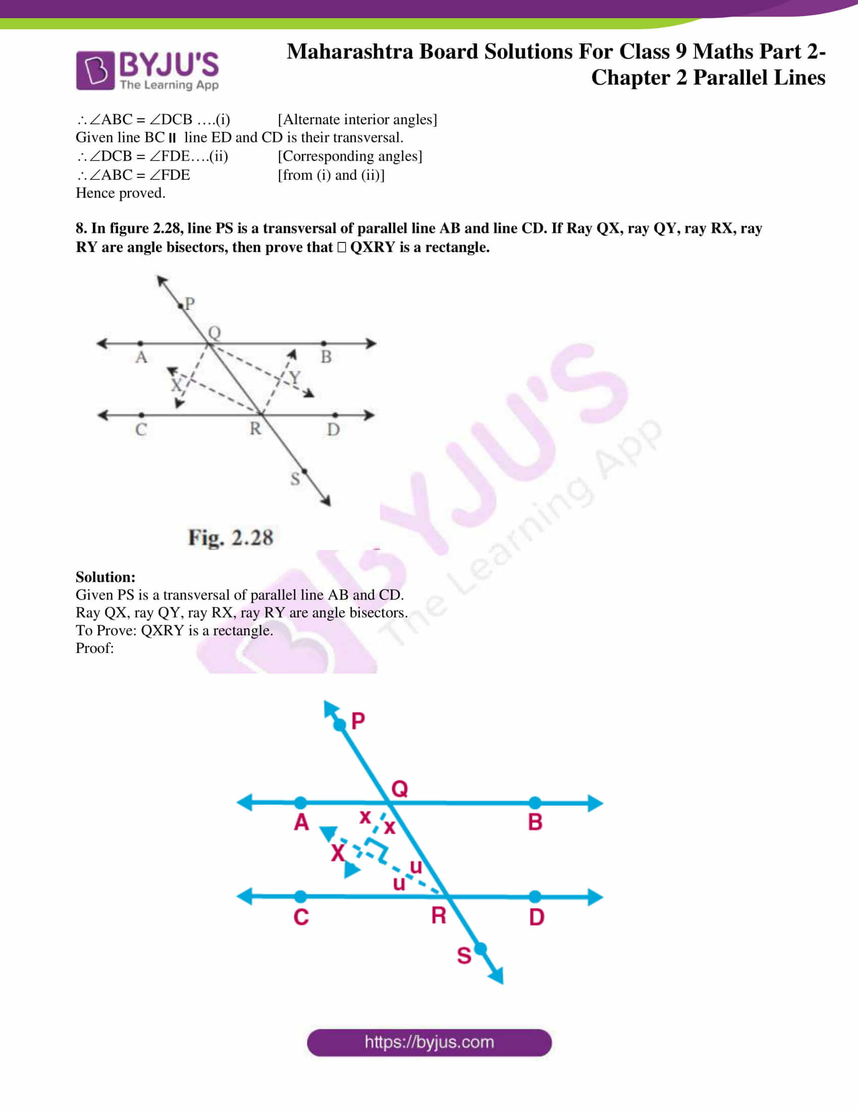 msbshse solutions for class 9 maths part 2 chapter 2 18
