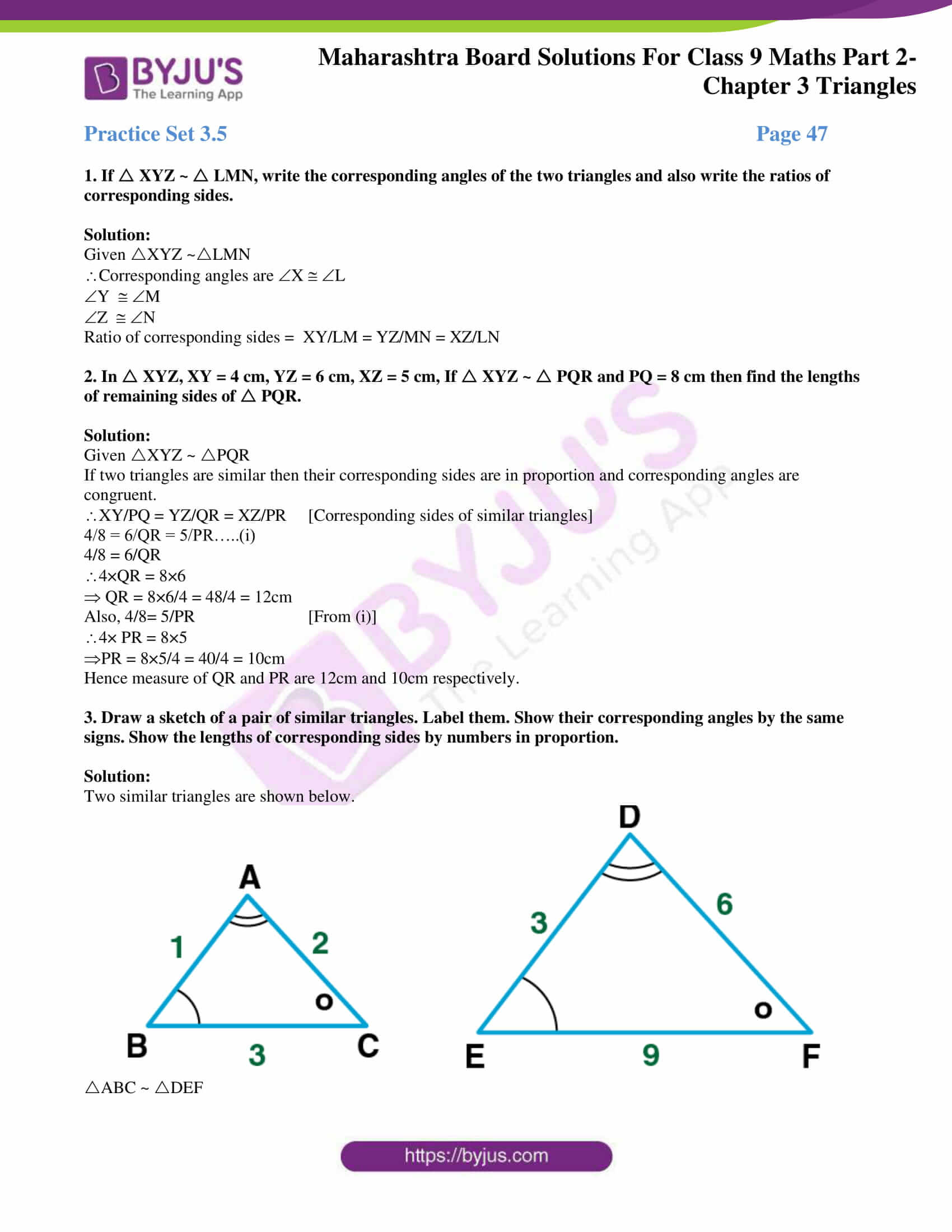 msbshse solutions for class 9 maths part 2 chapter 3 19