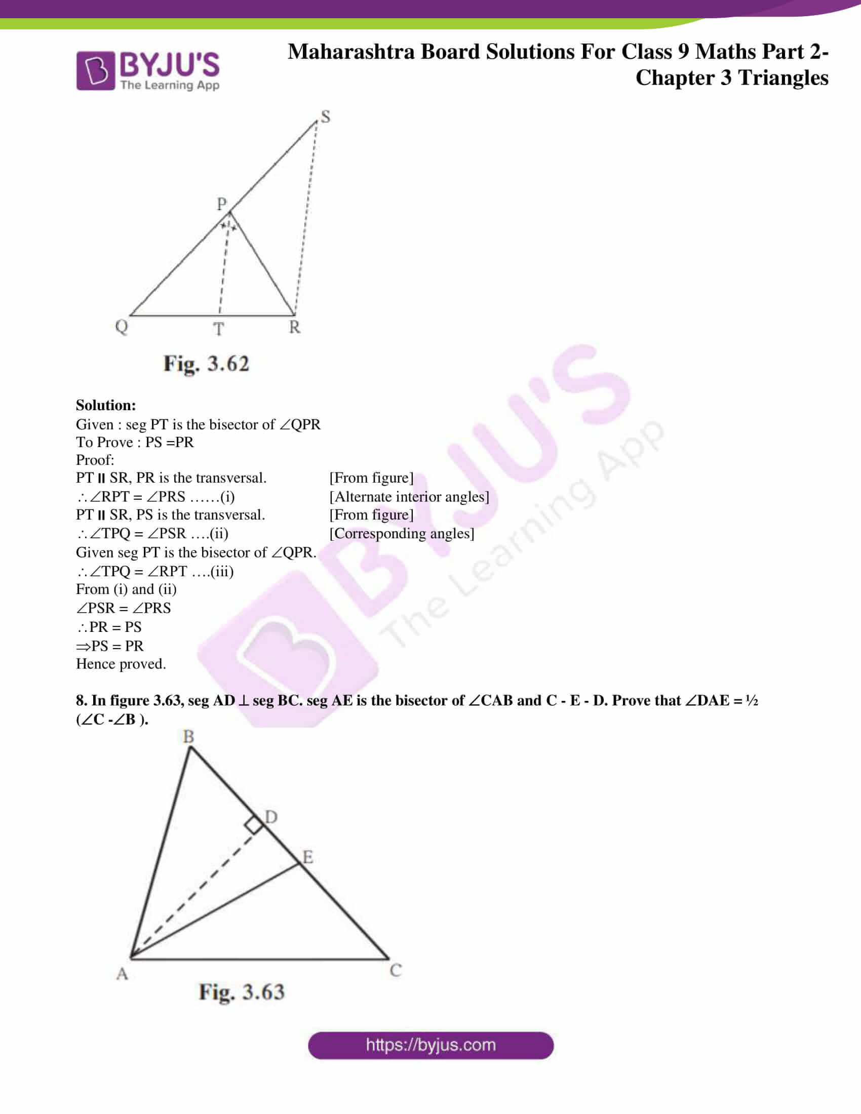 msbshse solutions for class 9 maths part 2 chapter 3 24