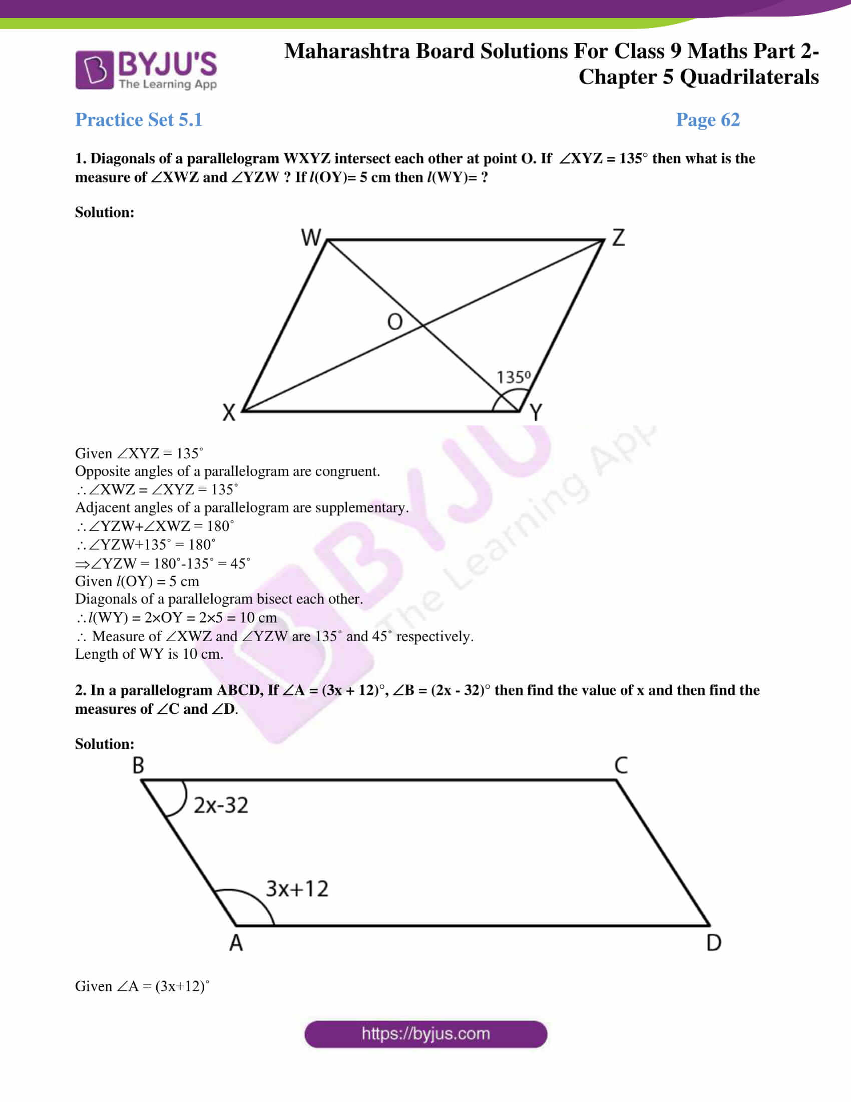 msbshse solutions for class 9 maths part 2 chapter 5 01