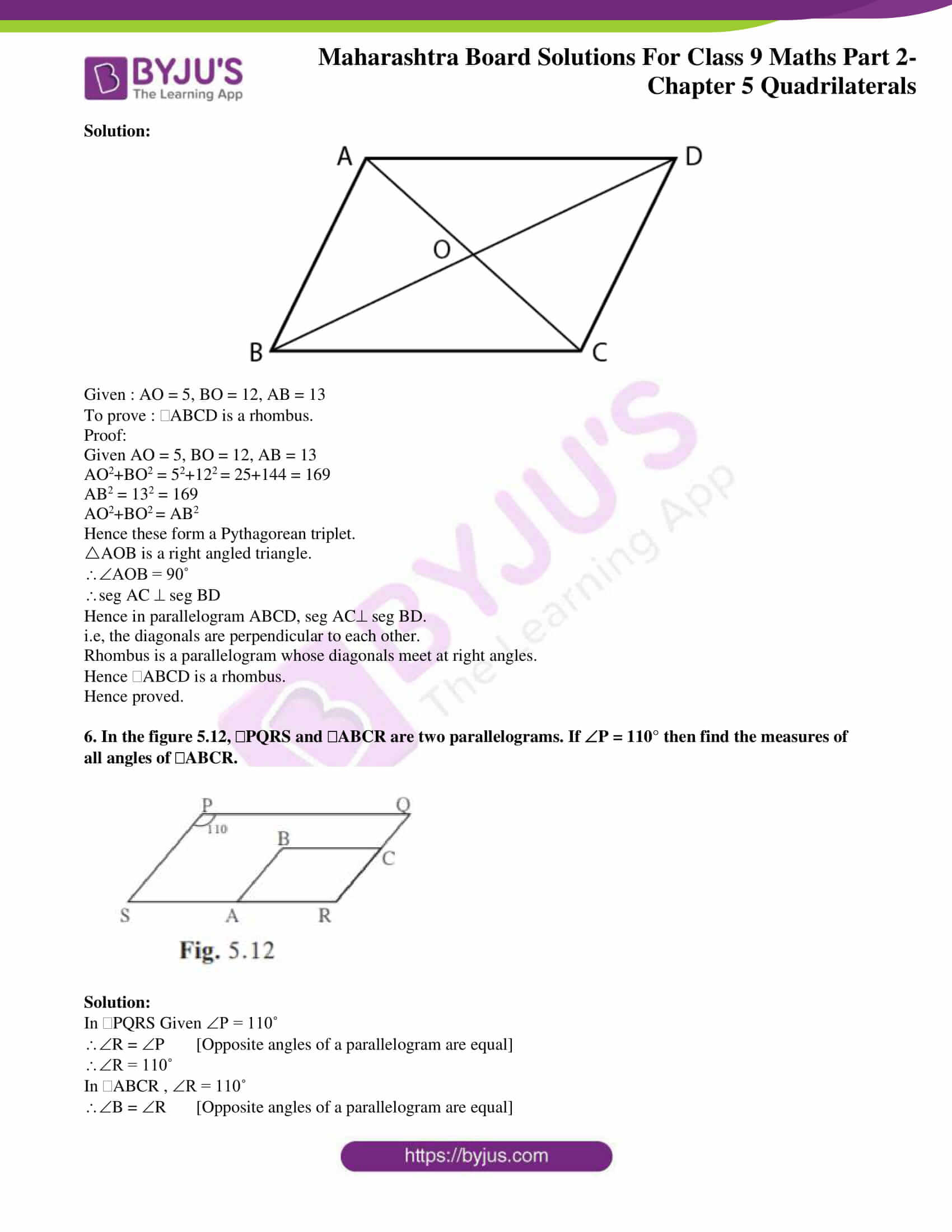 msbshse solutions for class 9 maths part 2 chapter 5 04