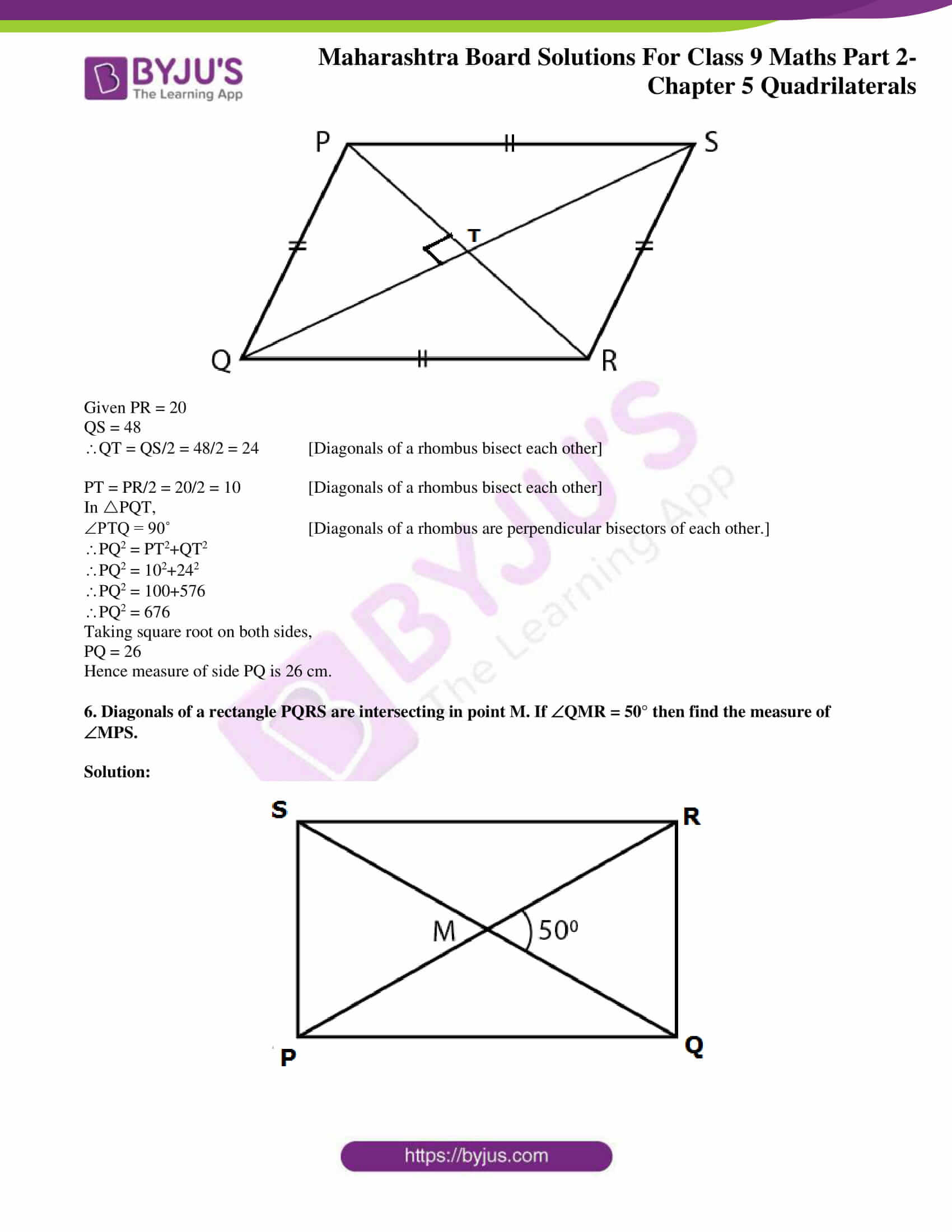 msbshse solutions for class 9 maths part 2 chapter 5 23