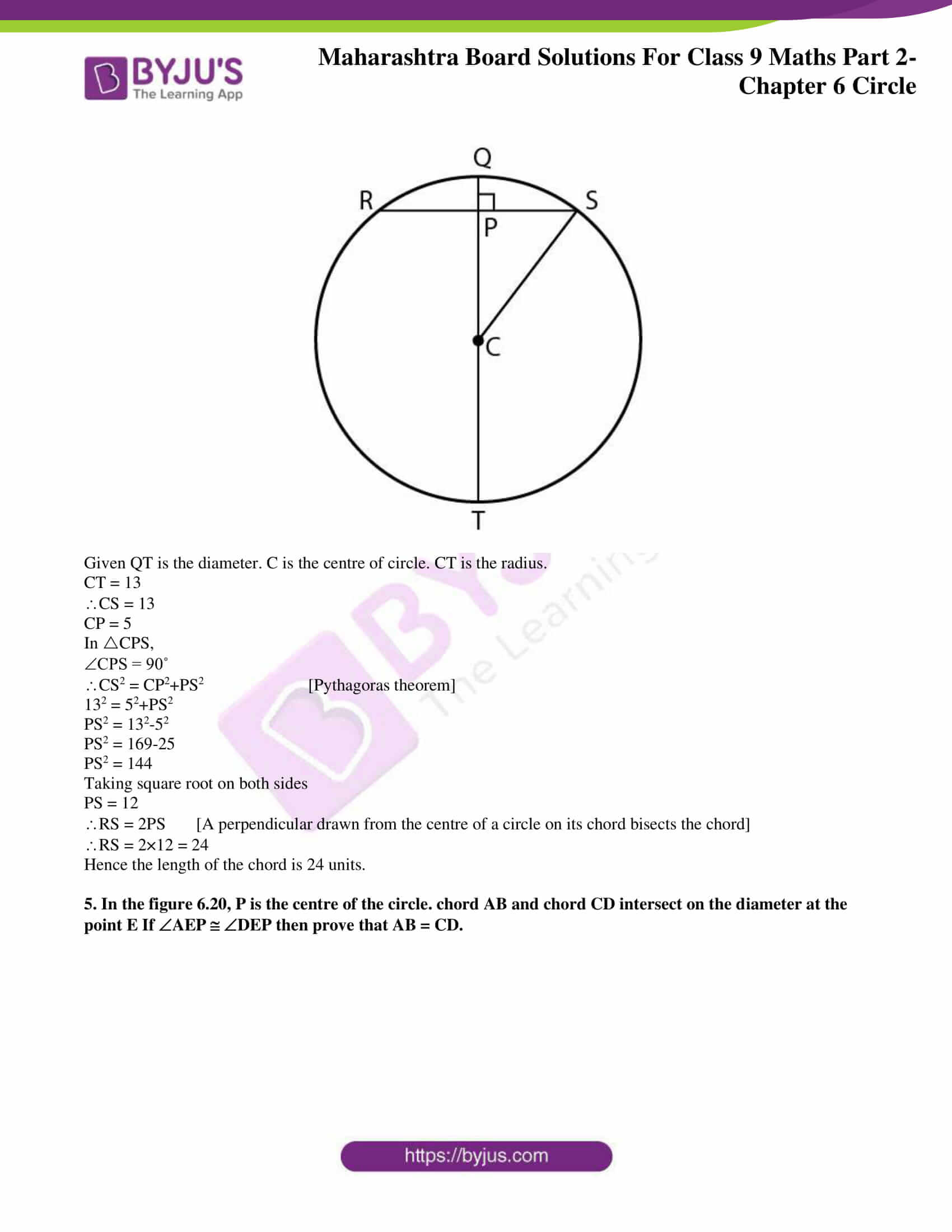msbshse solutions for class 9 maths part 2 chapter 6 27