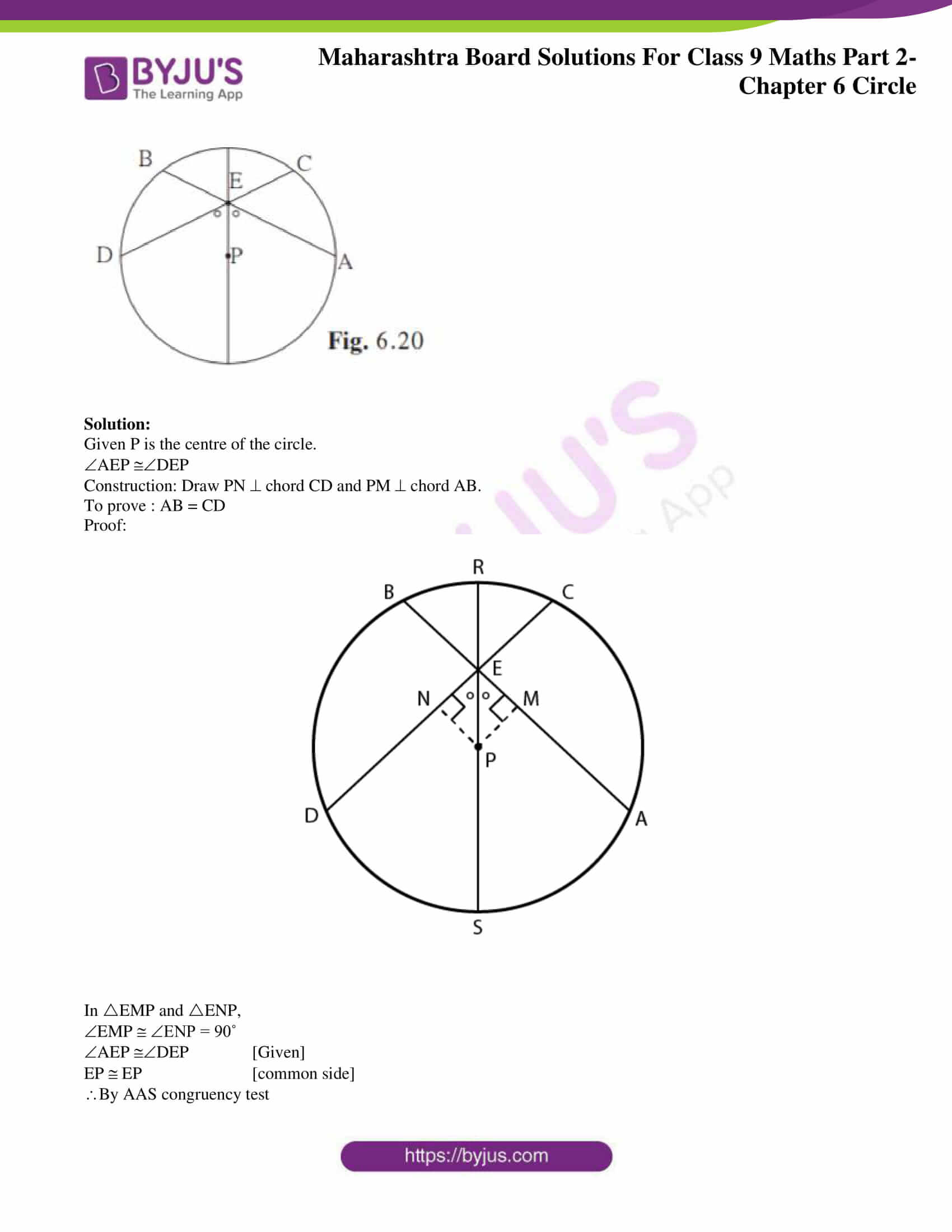 msbshse solutions for class 9 maths part 2 chapter 6 28