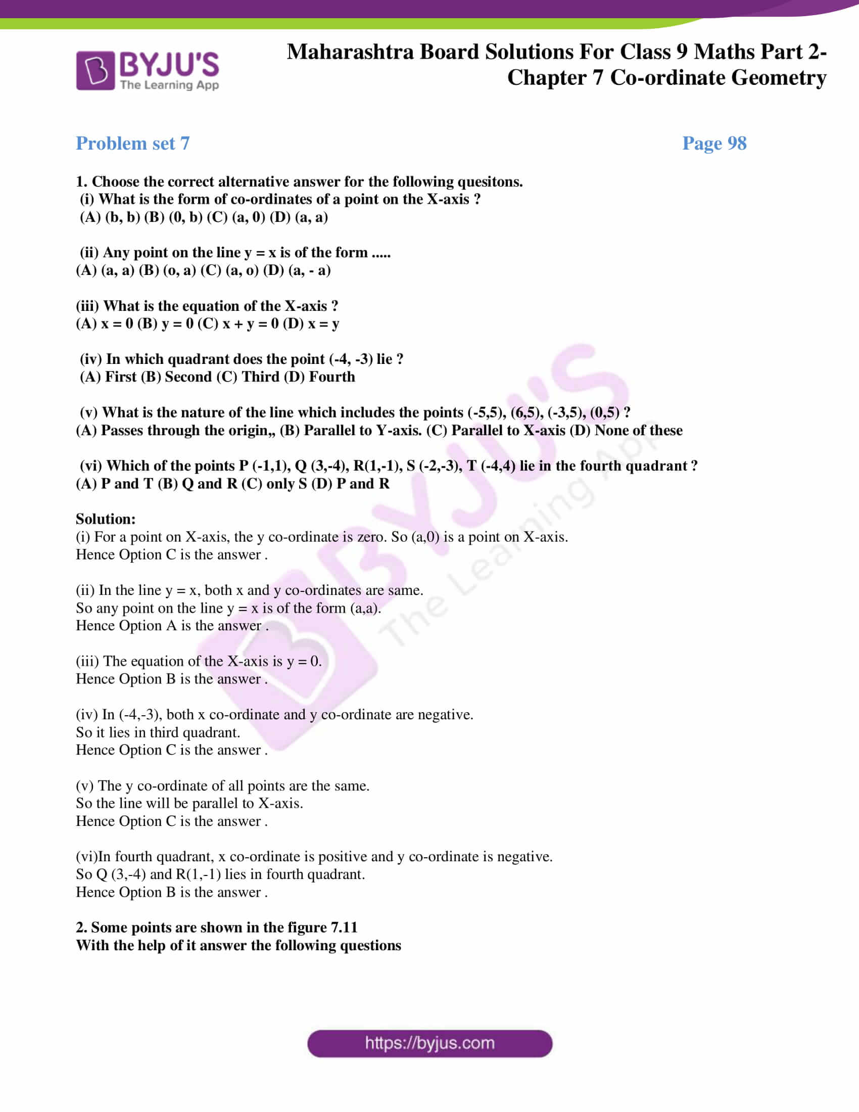msbshse solutions for class 9 maths part 2 chapter 7 10