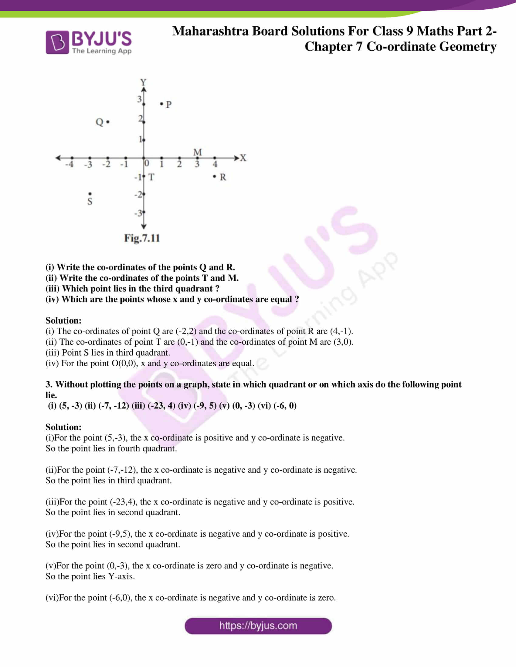 msbshse solutions for class 9 maths part 2 chapter 7 11