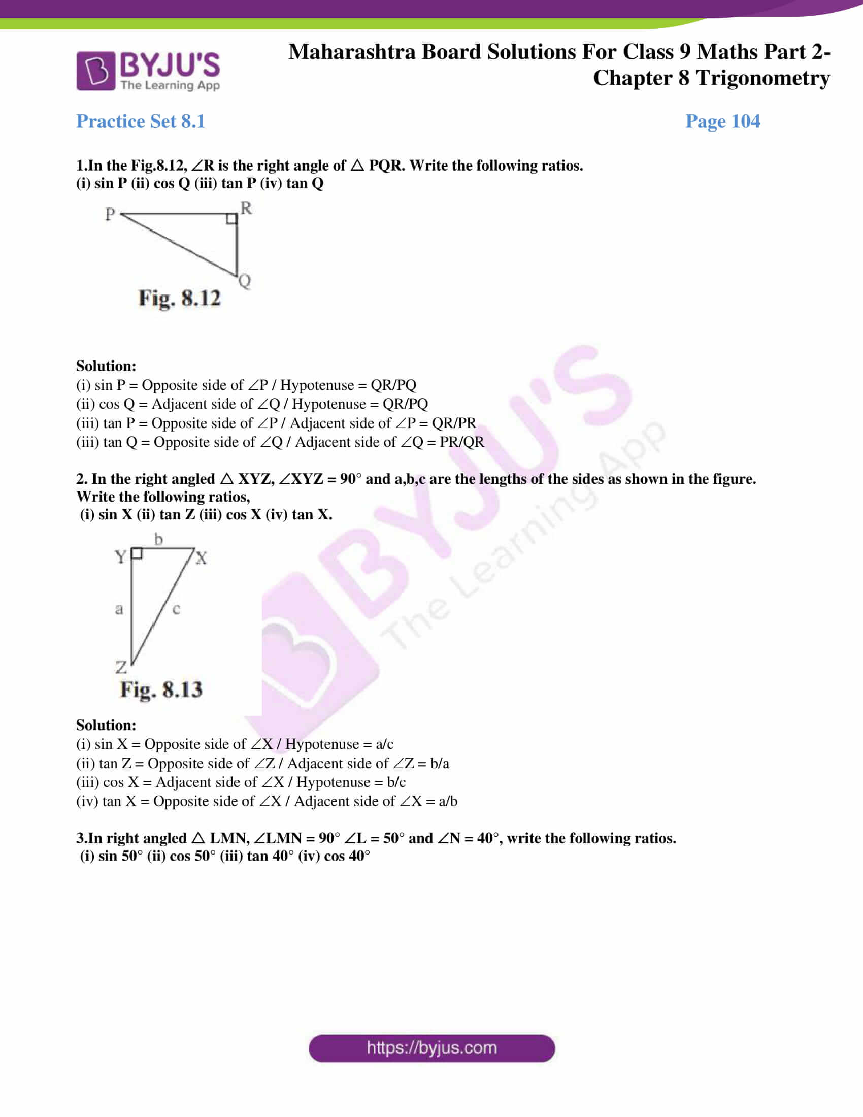 msbshse solutions for class 9 maths part 2 chapter 8 01
