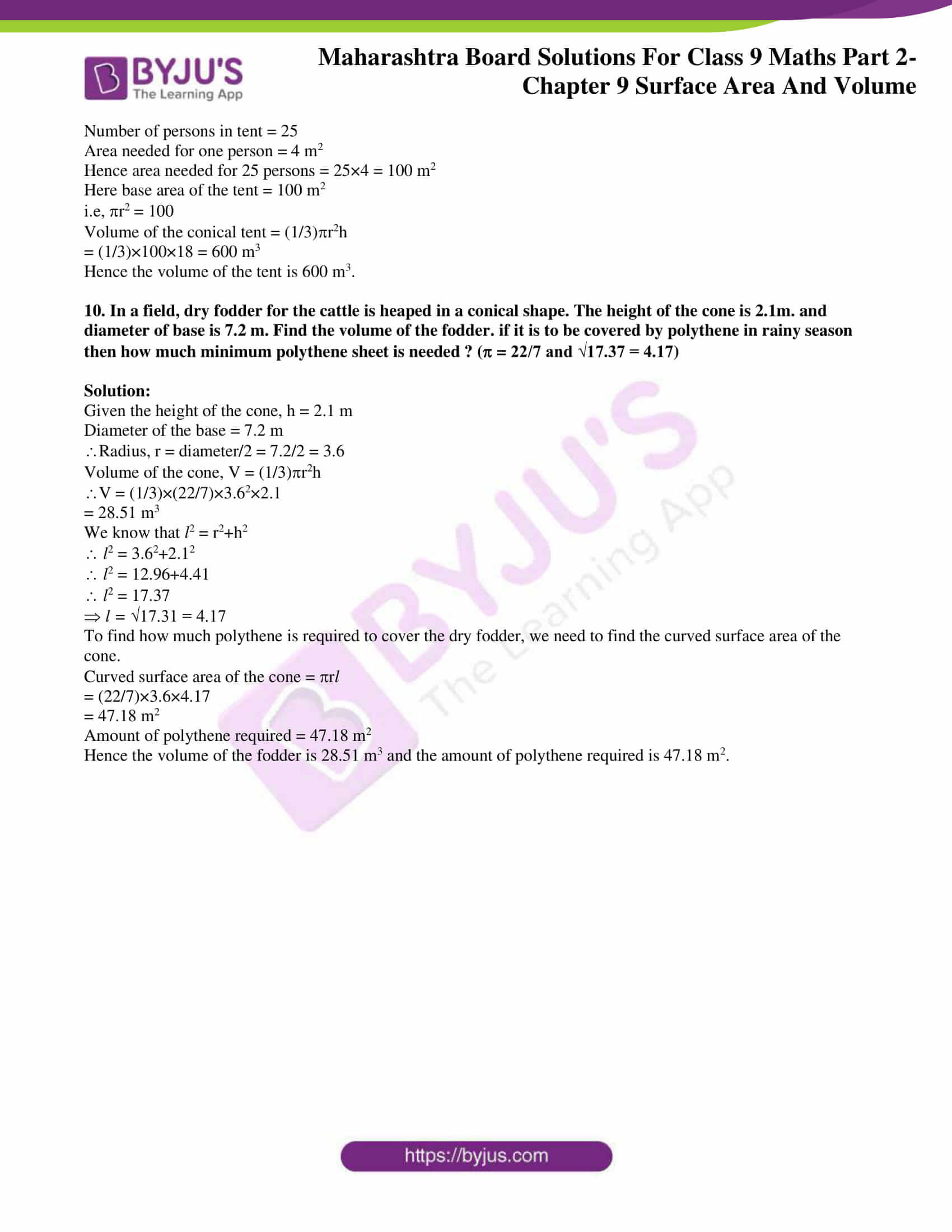 msbshse solutions for class 9 maths part 2 chapter 9 07