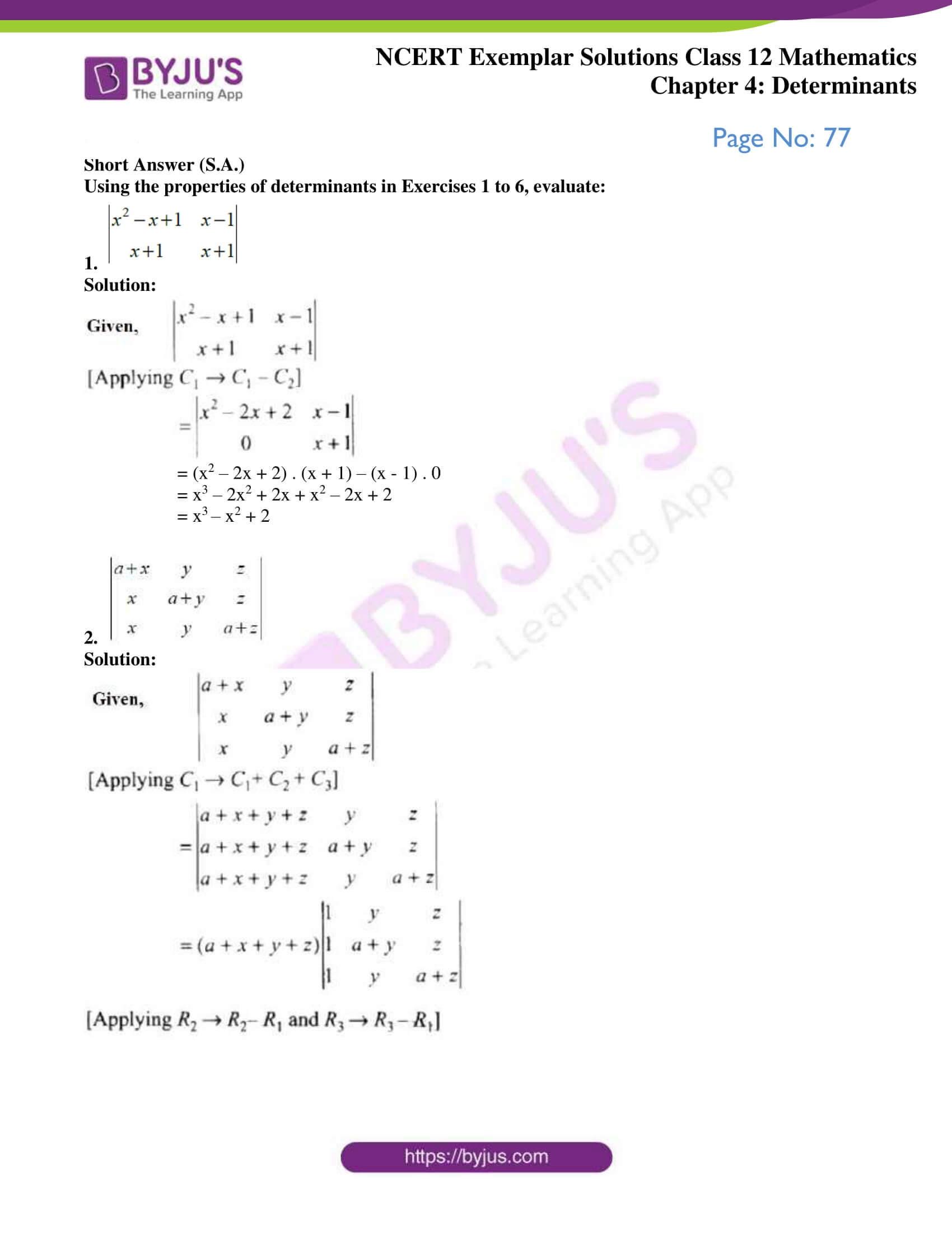 ncert exemplar sol class 12 math ch4 01
