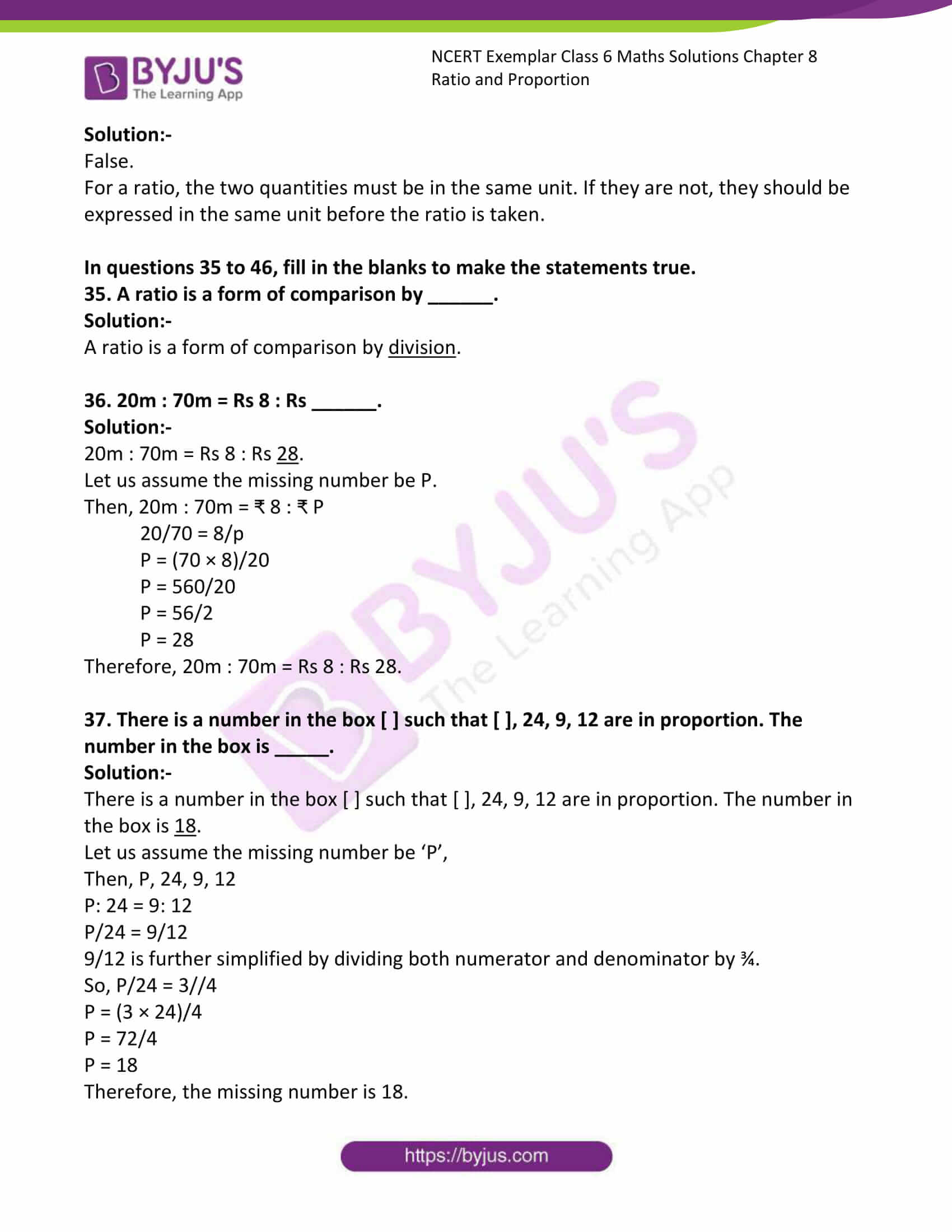ncert exemplar class 6 maths sol ch 8 12