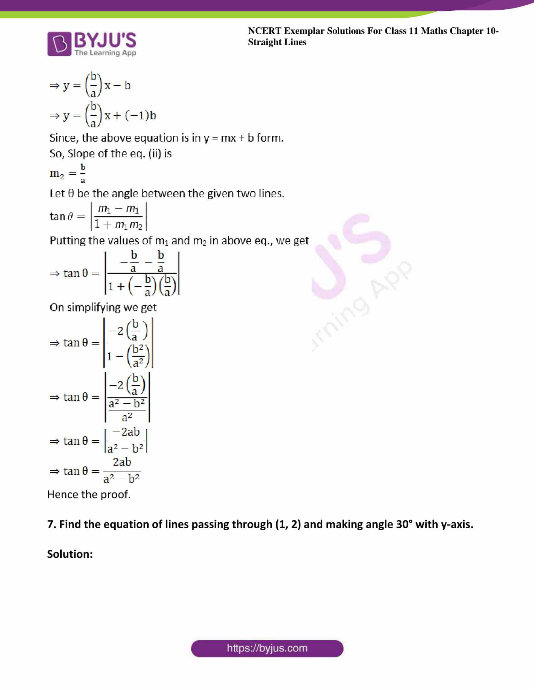 ncert exemplar sol class 11 maths chpt 10 straight lines 07