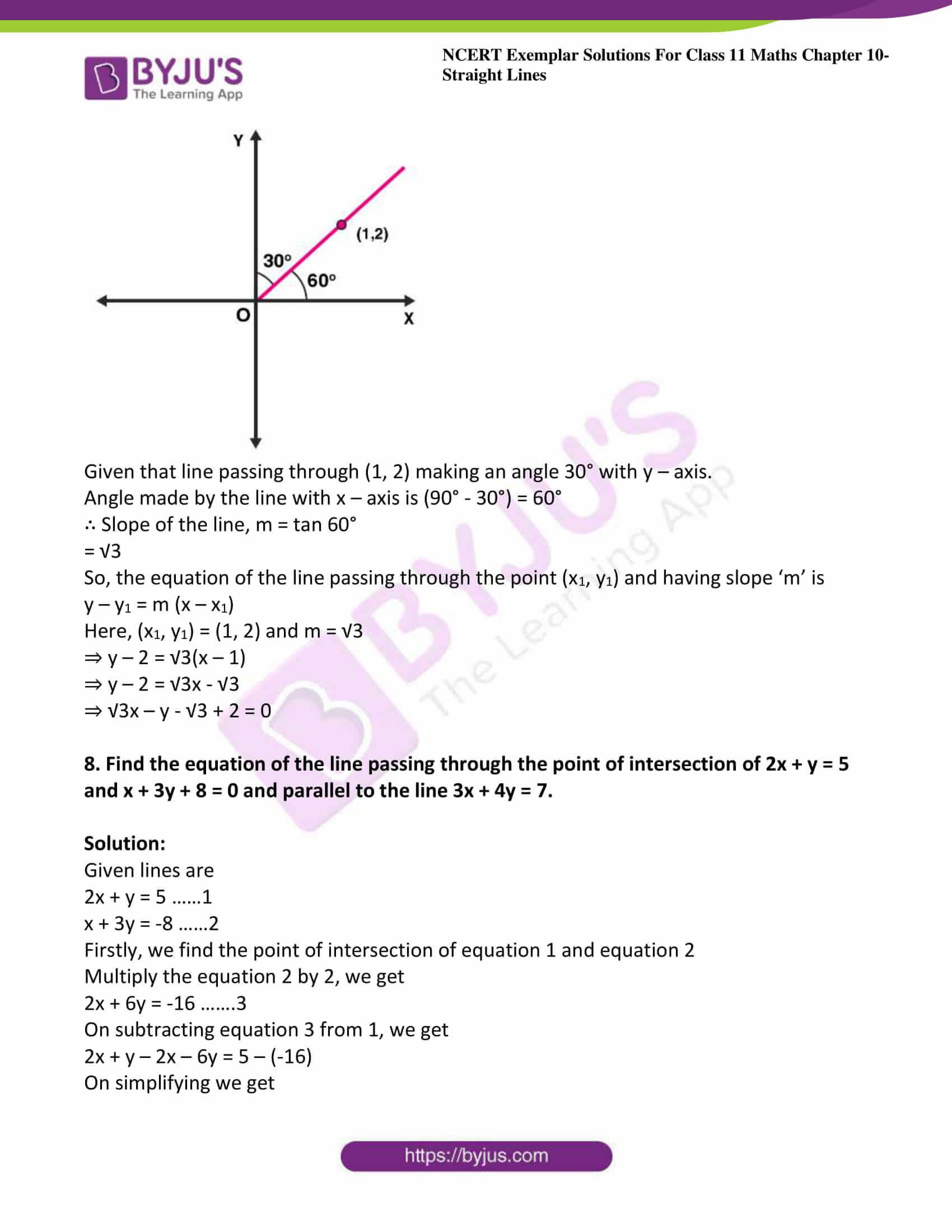 ncert exemplar sol class 11 maths chpt 10 straight lines 08