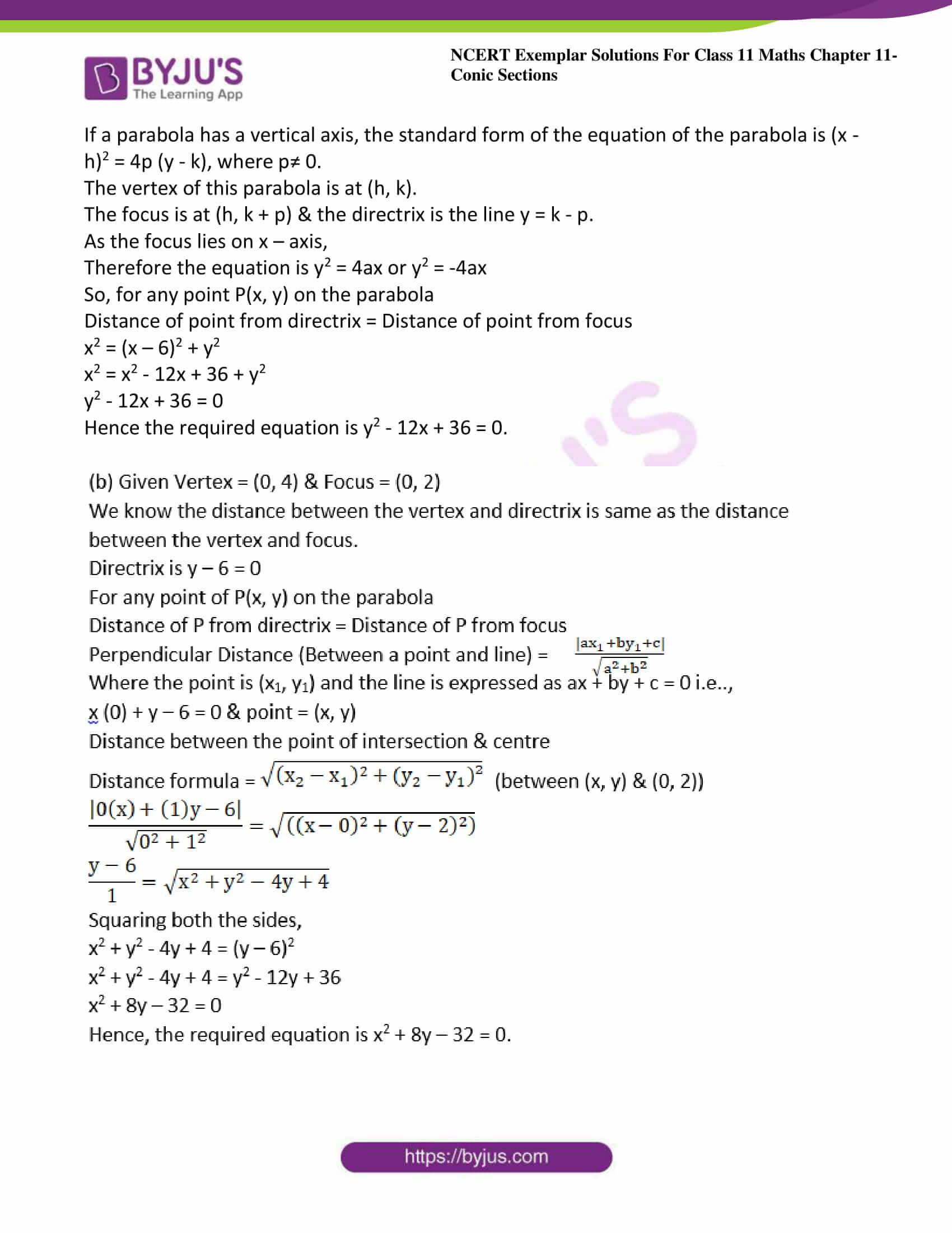 ncert exemplar sol class 11 maths chpt 11 conic 24