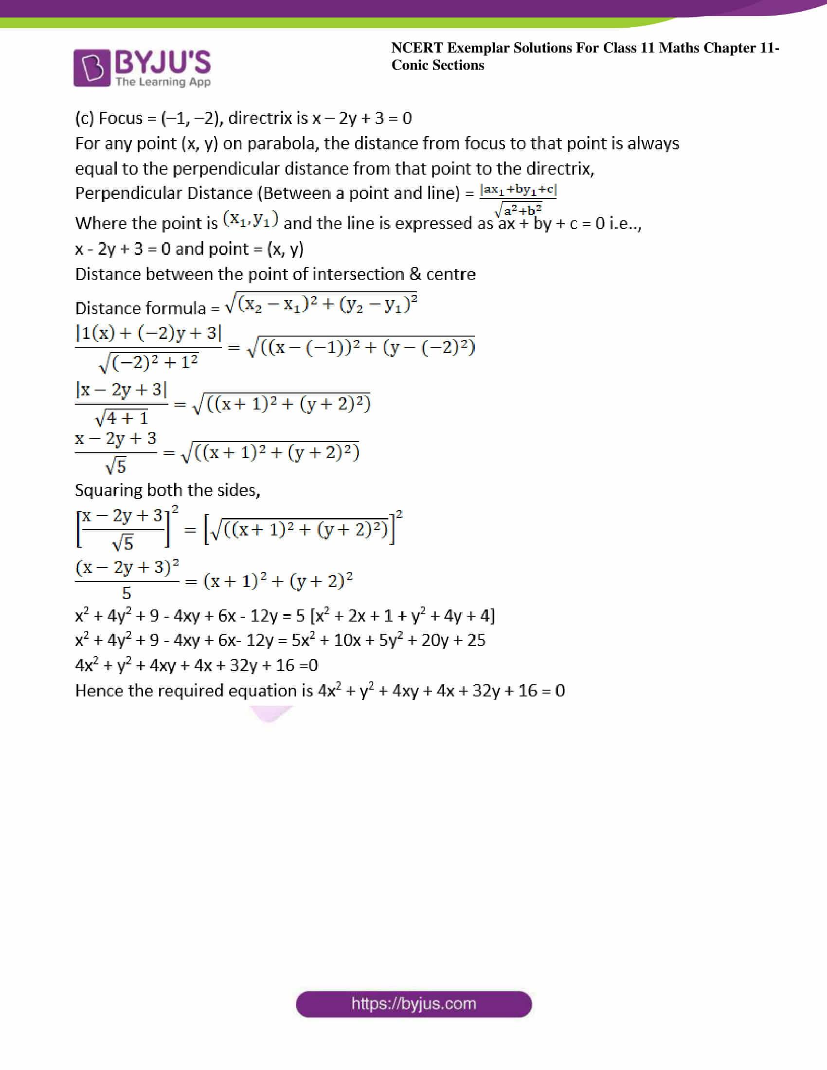 ncert exemplar sol class 11 maths chpt 11 conic 25