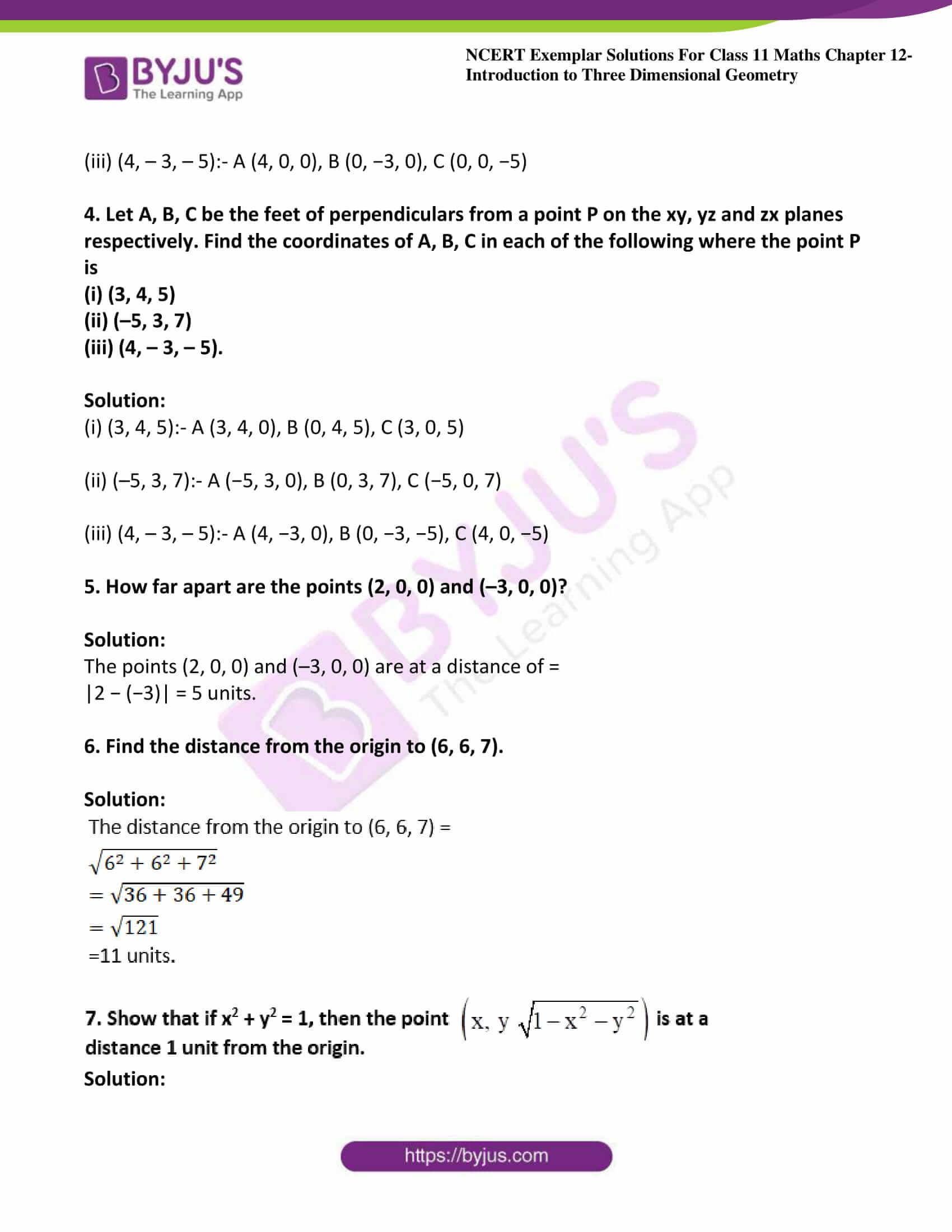 ncert exemplar sol class 11 maths chpt 12 three dimensional 03