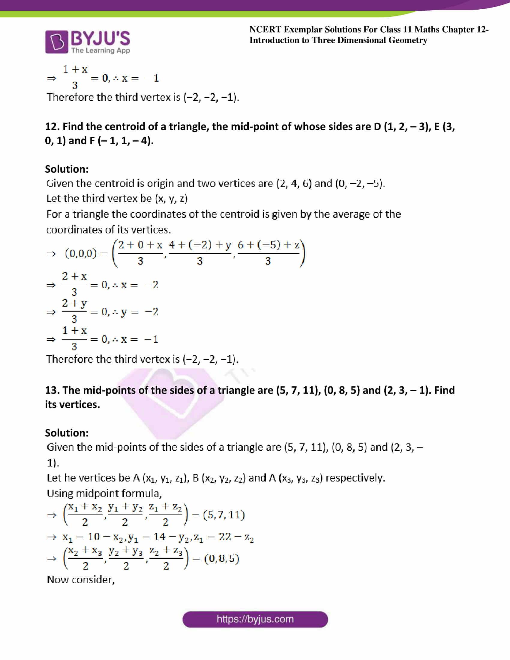 ncert exemplar sol class 11 maths chpt 12 three dimensional 06