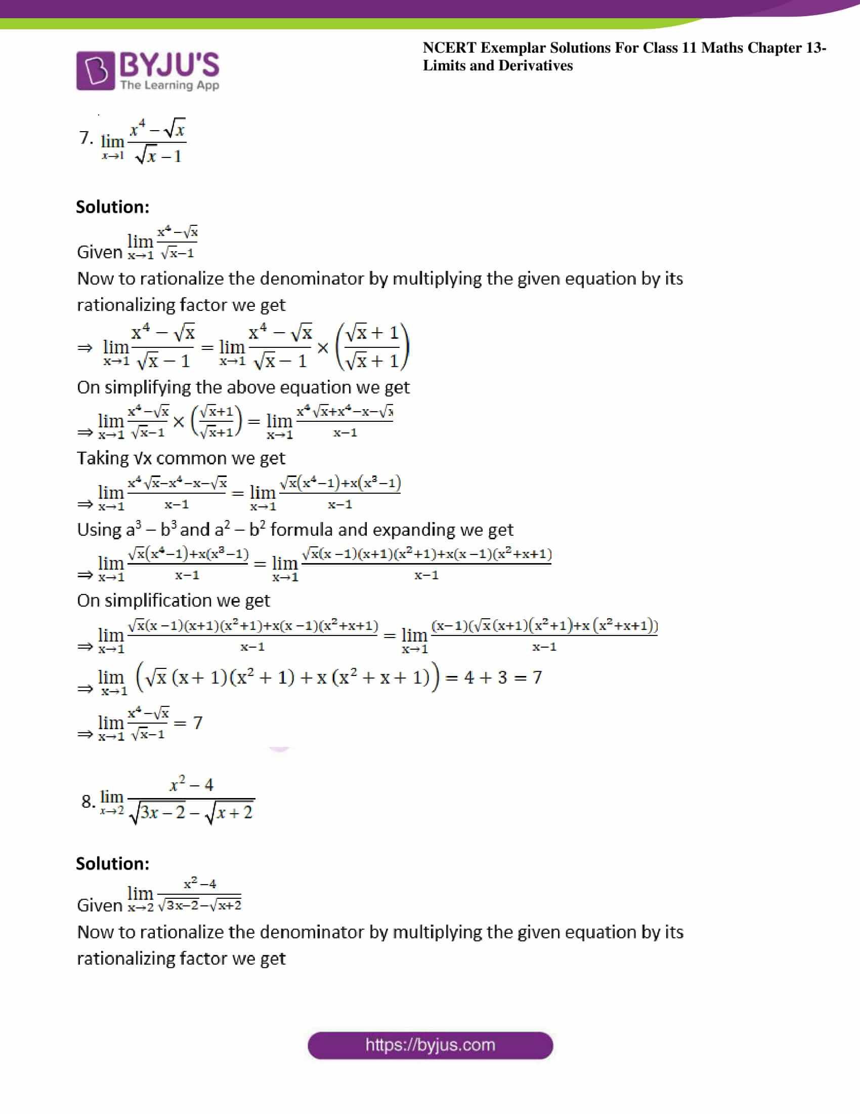 ncert exemplar sol class 11 maths chpt 13 limits 03