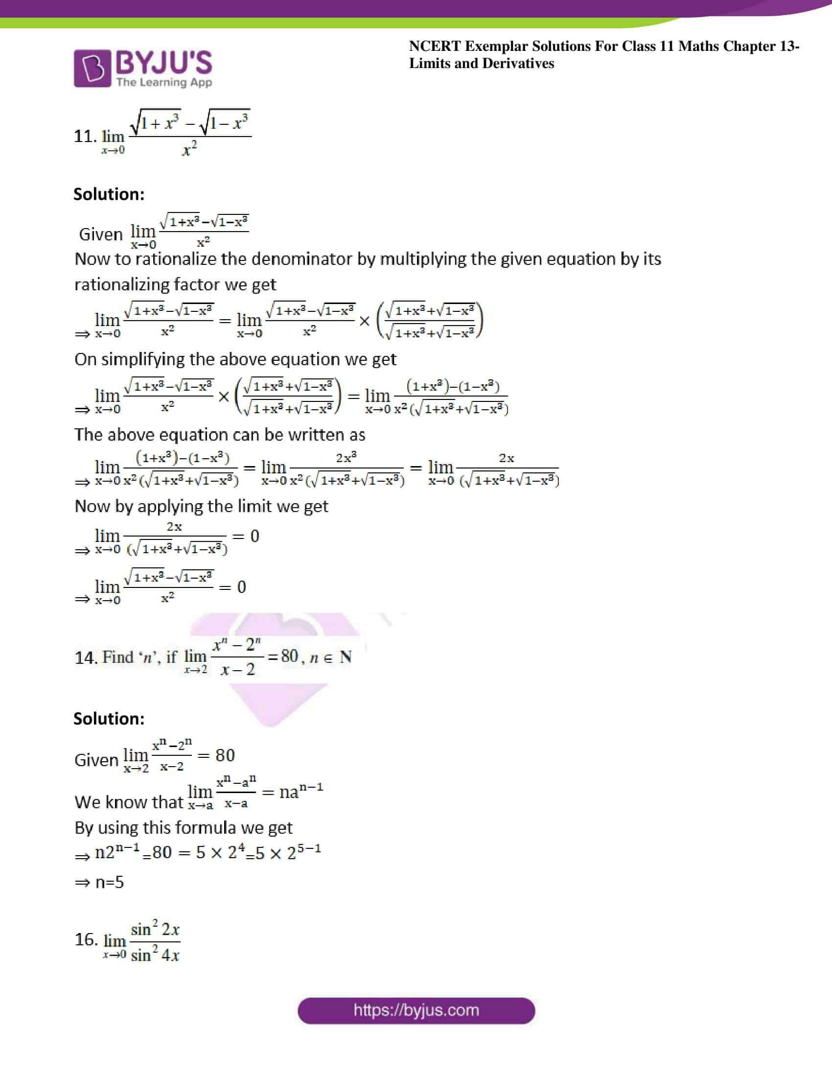 ncert exemplar sol class 11 maths chpt 13 limits 05