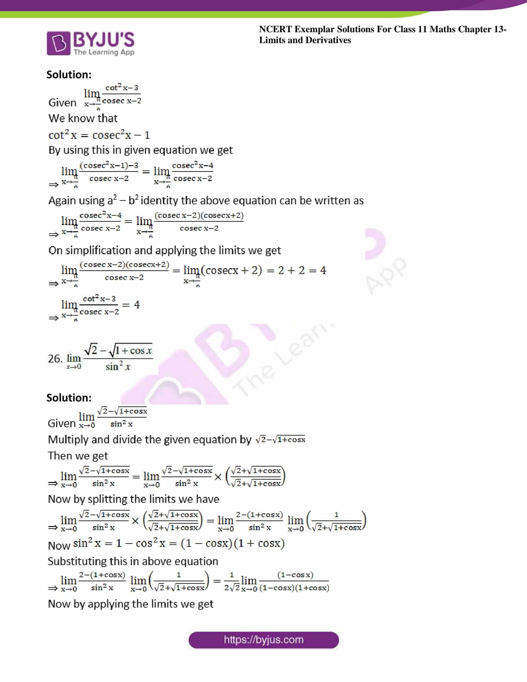 ncert exemplar sol class 11 maths chpt 13 limits 13