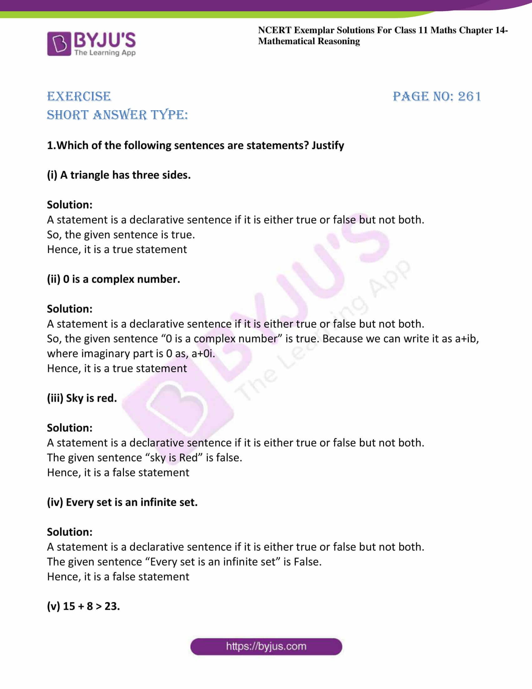 ncert exemplar sol class 11 maths chpt 14 mathematical 01
