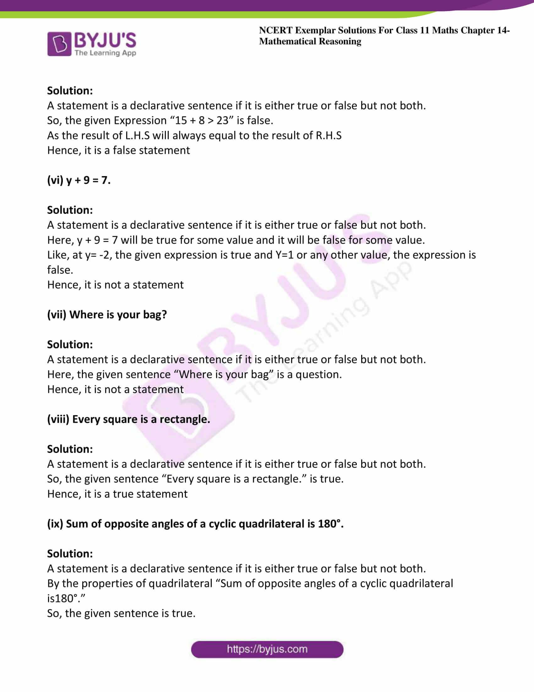 ncert exemplar sol class 11 maths chpt 14 mathematical 02