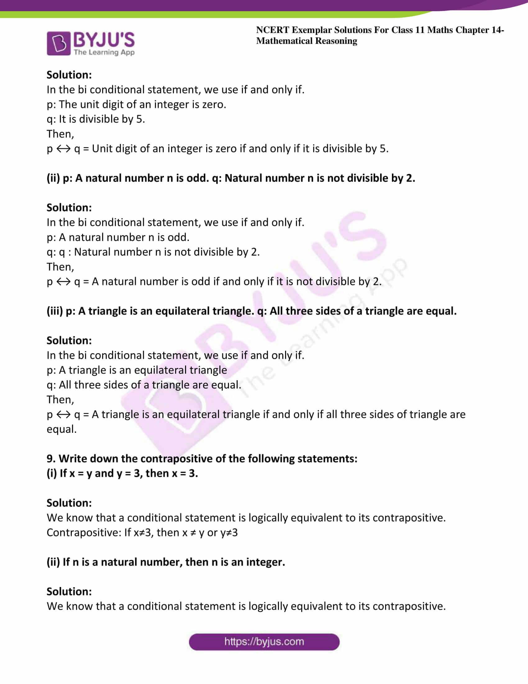 ncert exemplar sol class 11 maths chpt 14 mathematical 15