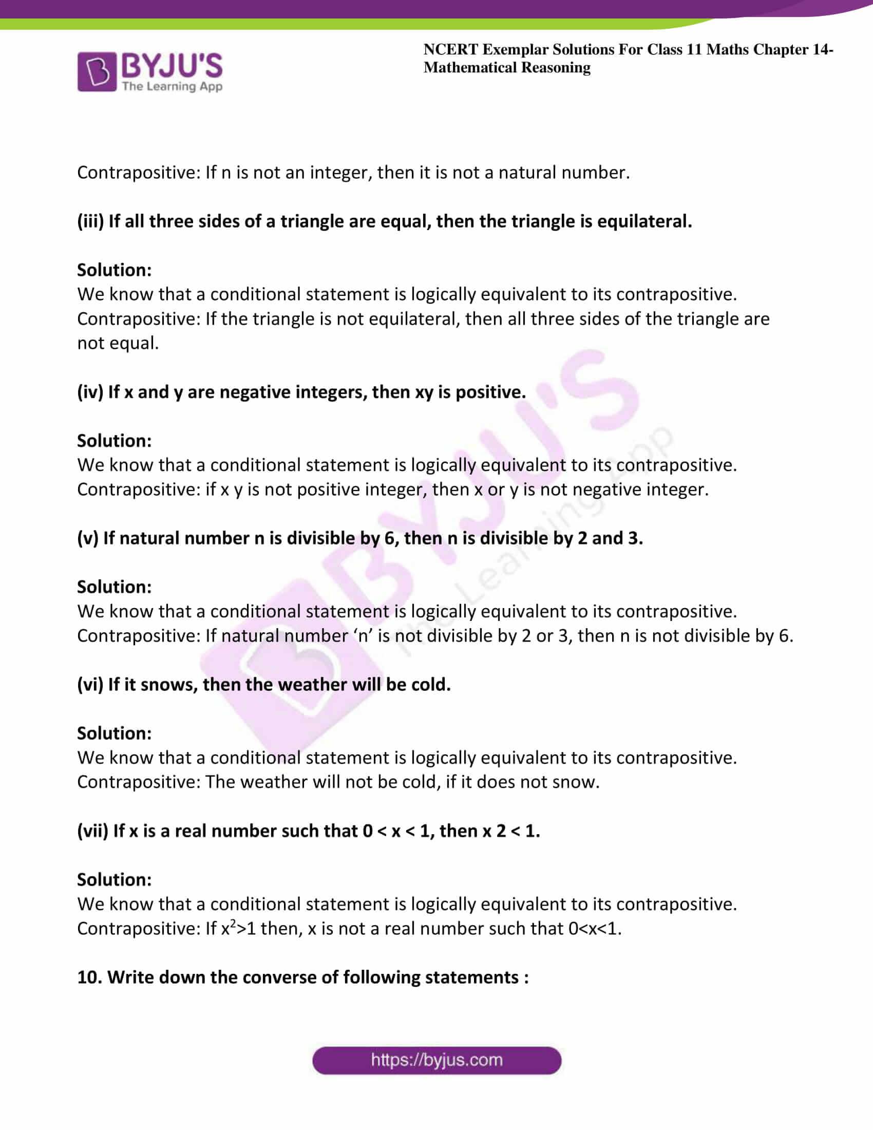ncert exemplar sol class 11 maths chpt 14 mathematical 16
