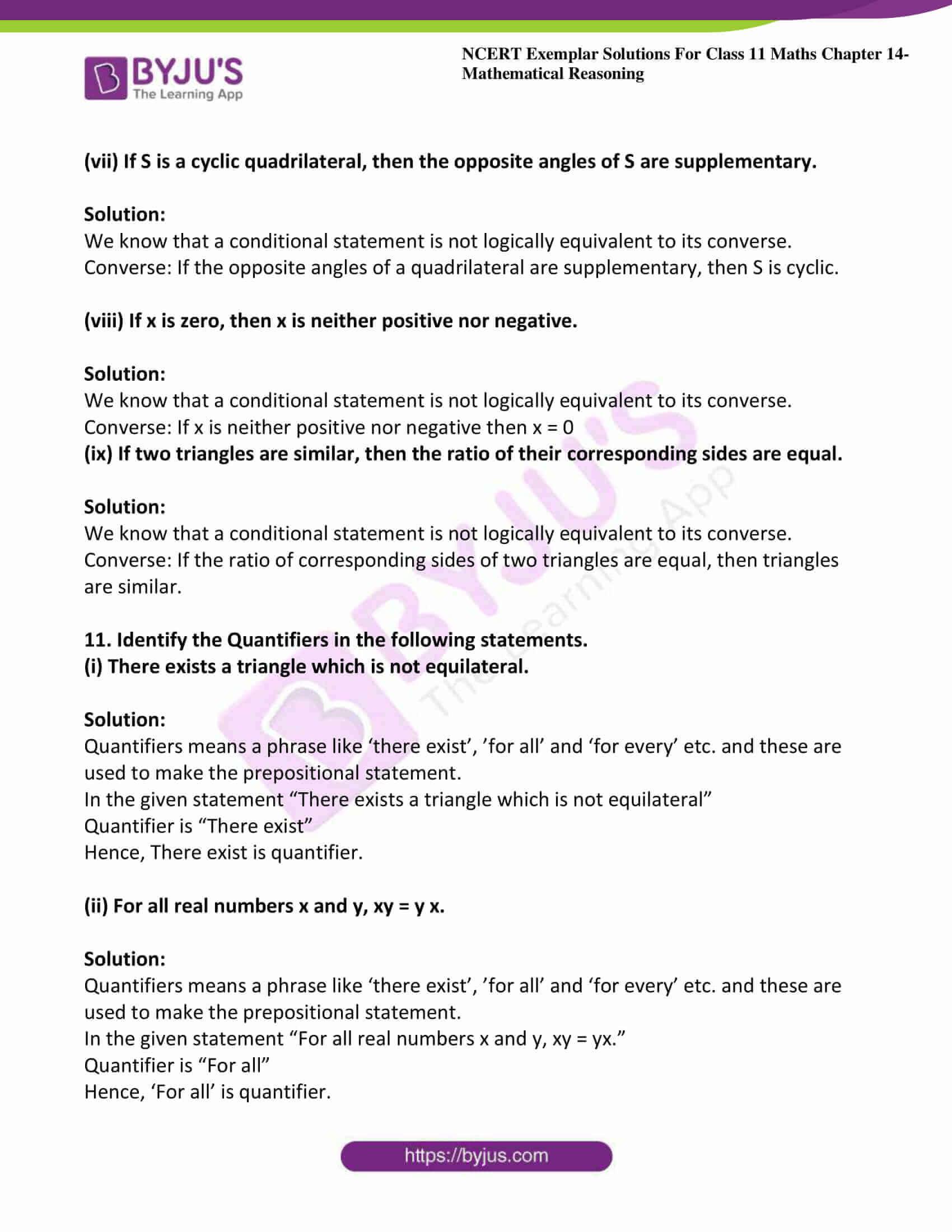 ncert exemplar sol class 11 maths chpt 14 mathematical 18