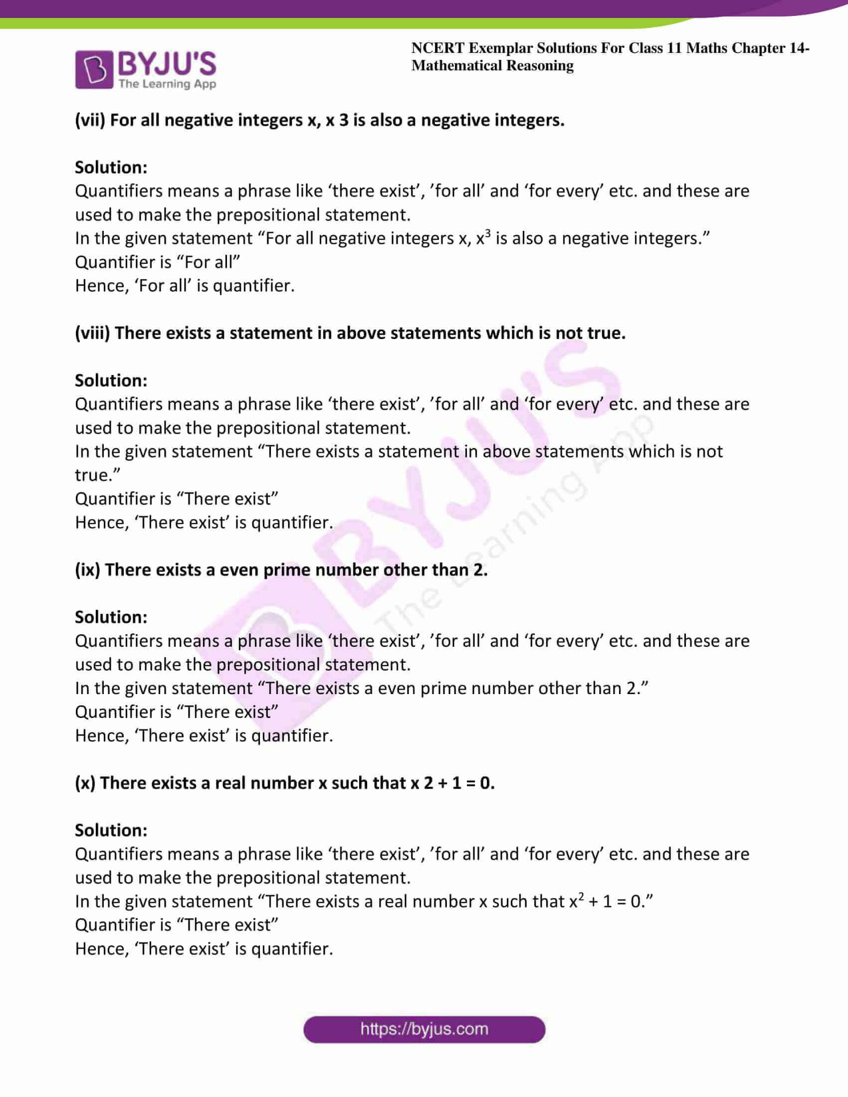 ncert exemplar sol class 11 maths chpt 14 mathematical 20